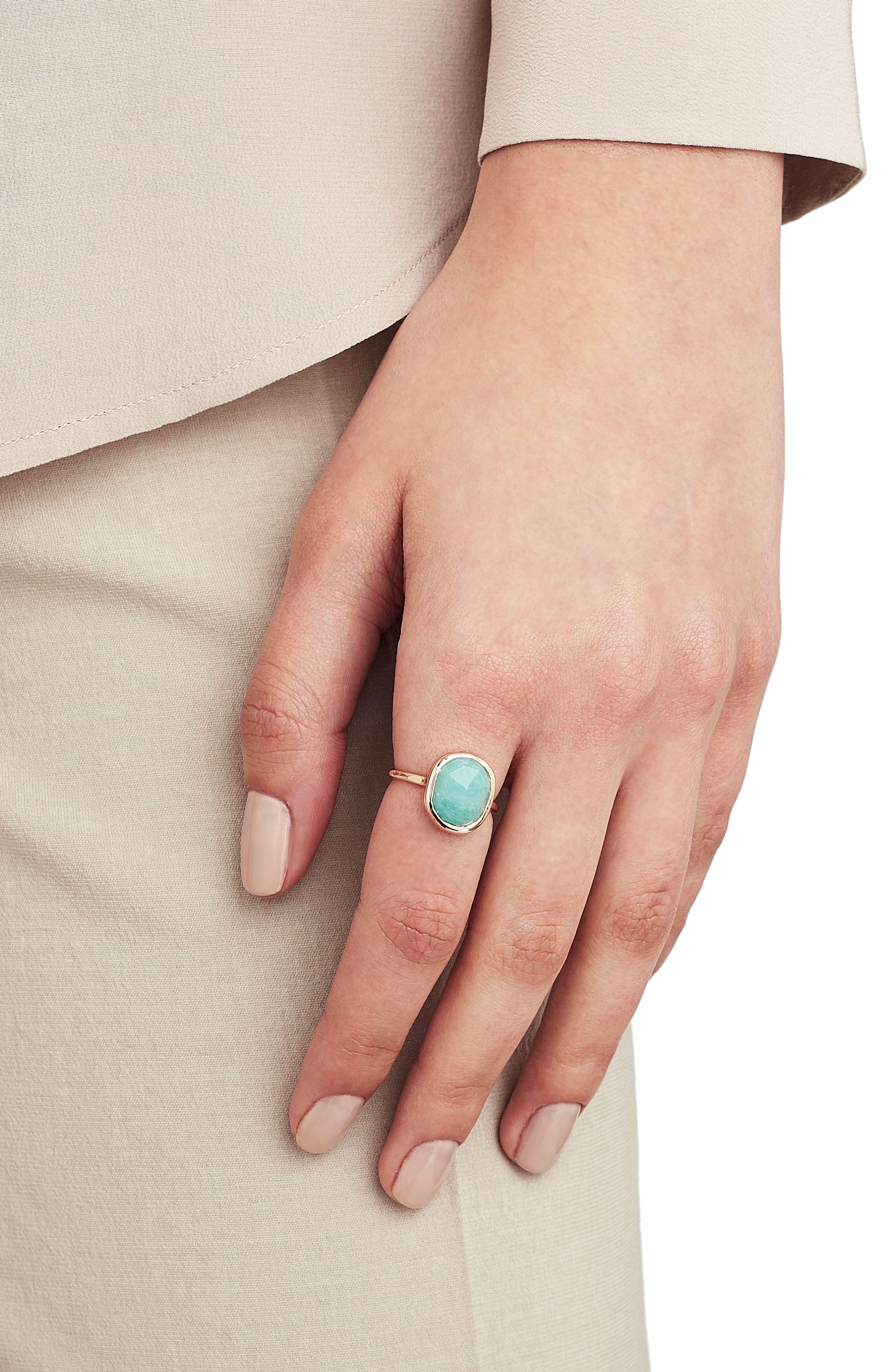Alternate Image 2  - Monica Vinader Siren Nugget Semiprecious Stacking Ring