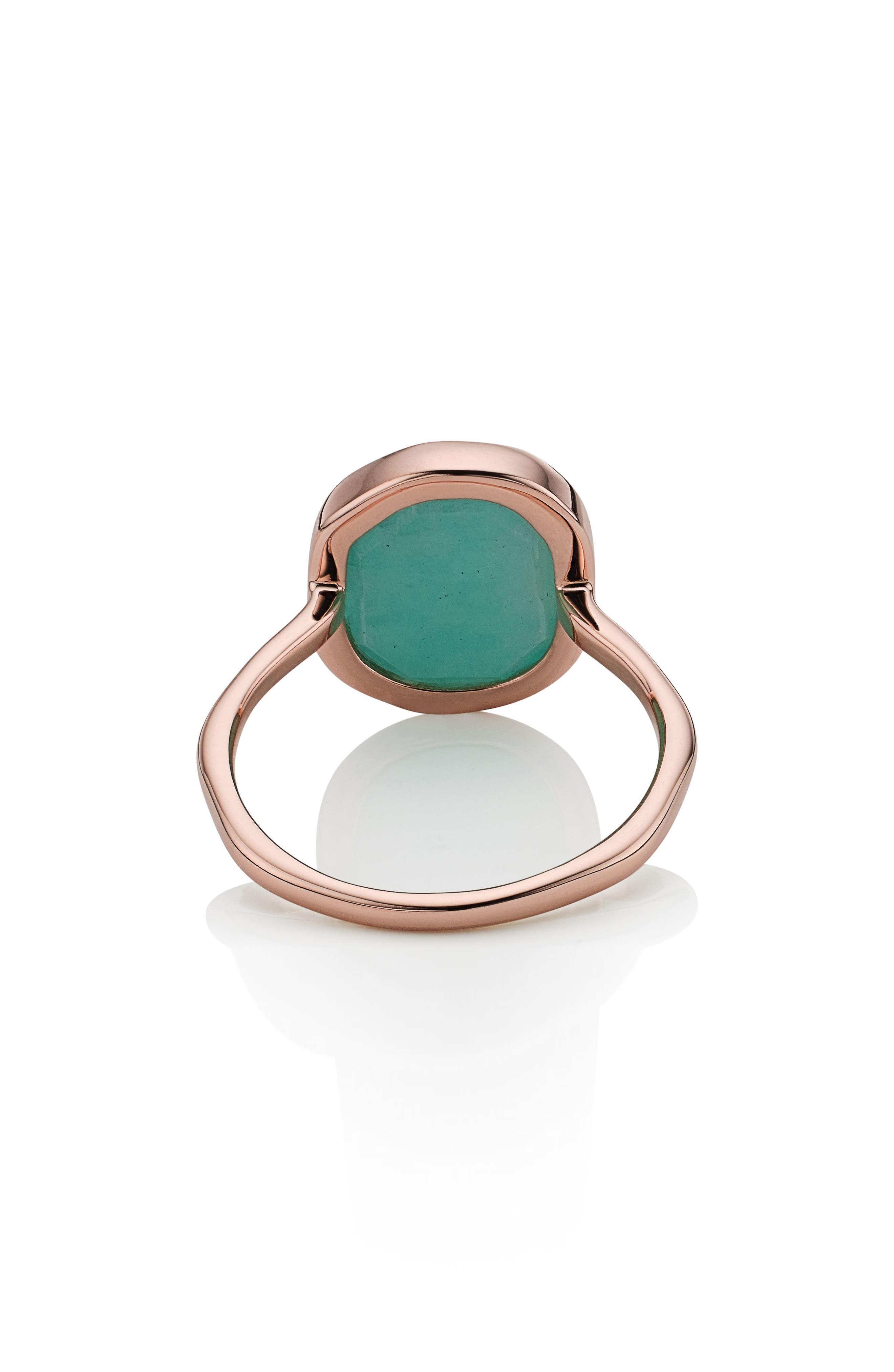 Alternate Image 4  - Monica Vinader Siren Nugget Semiprecious Stacking Ring