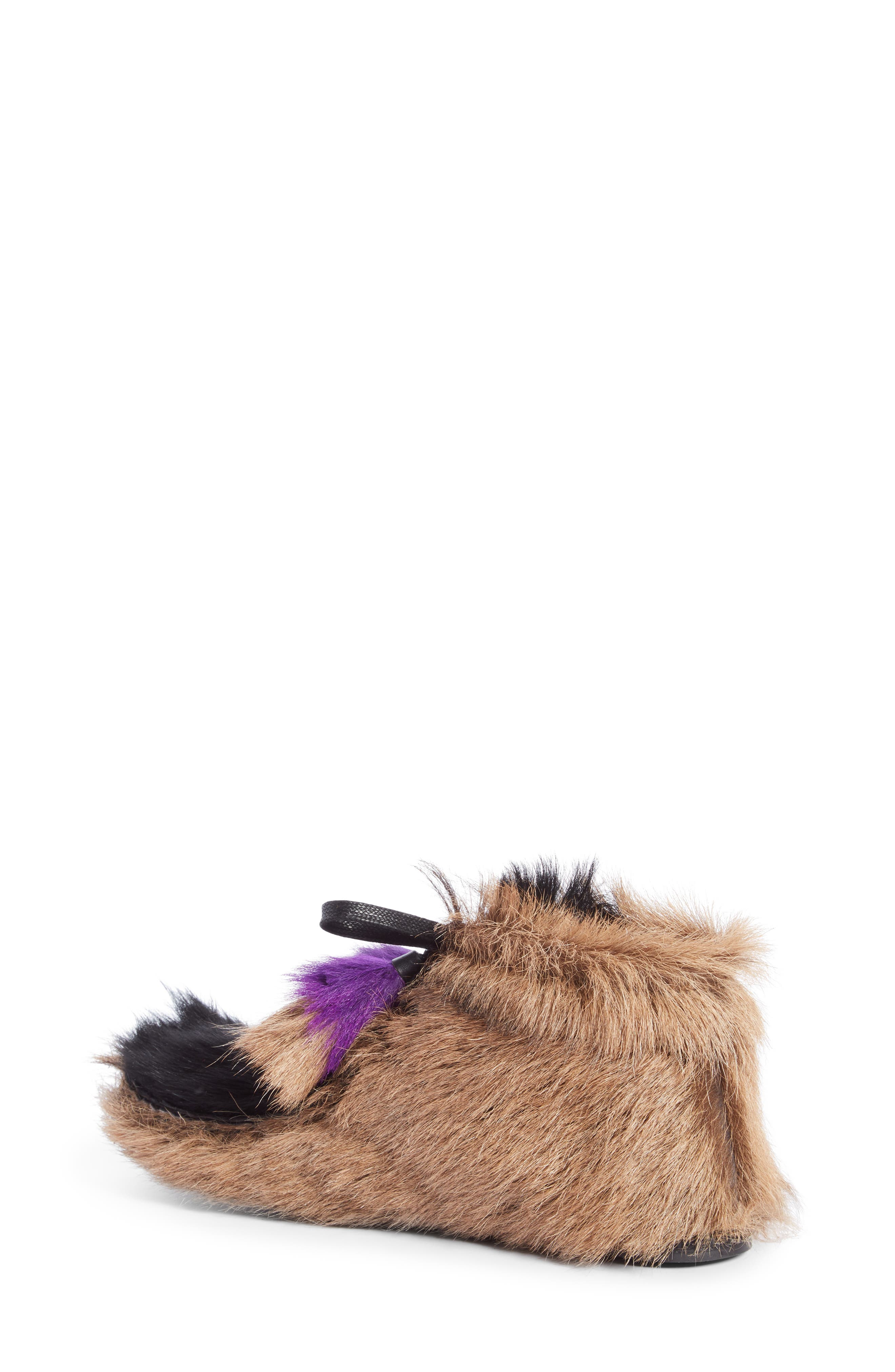 Genuine Shearling and Goat Hair Bootie,                             Alternate thumbnail 2, color,                             Beige Multi