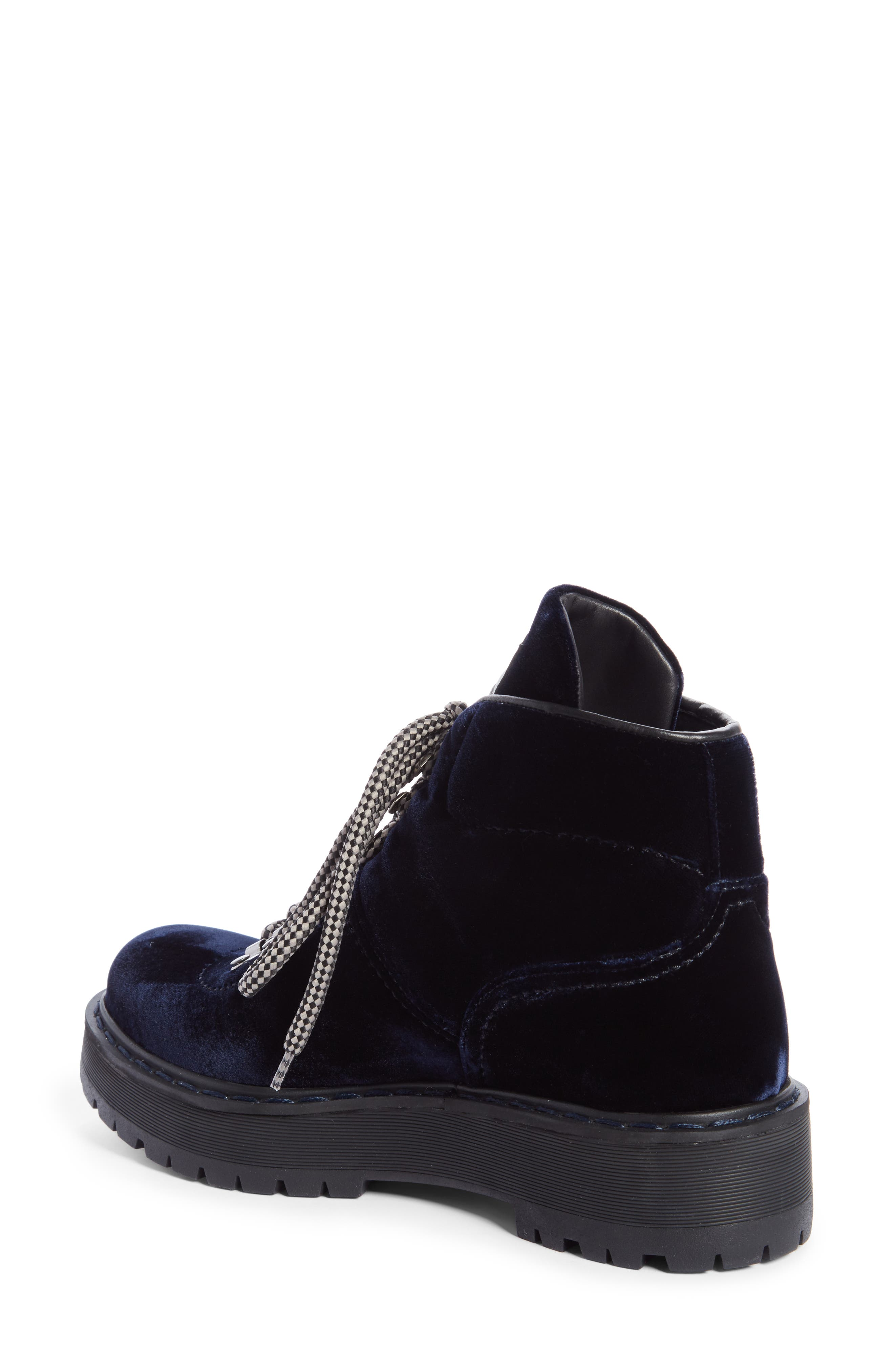 Lace-Up Bootie,                             Alternate thumbnail 2, color,                             Navy