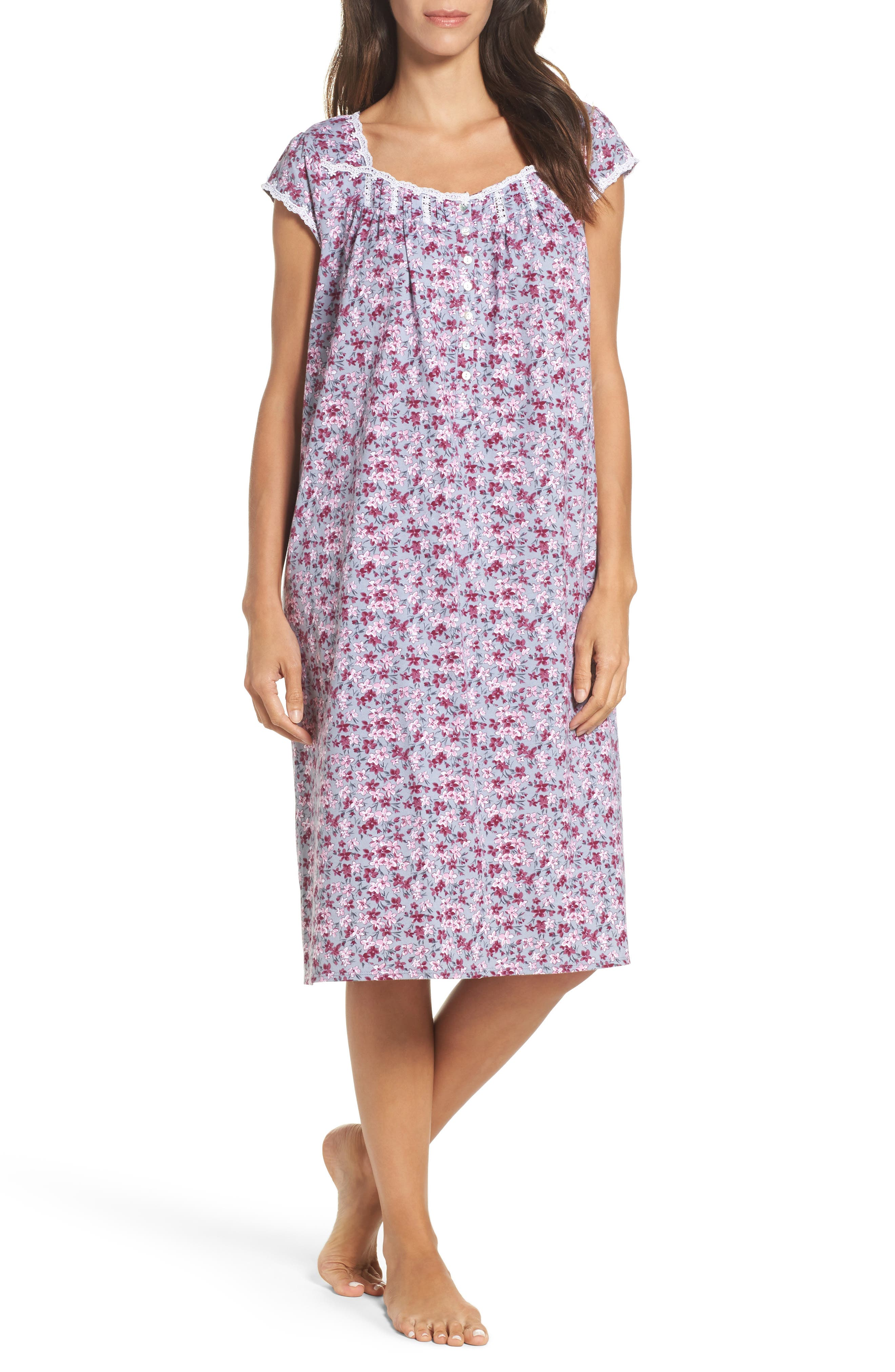 Print Waltz Nightgown,                         Main,                         color, Grey
