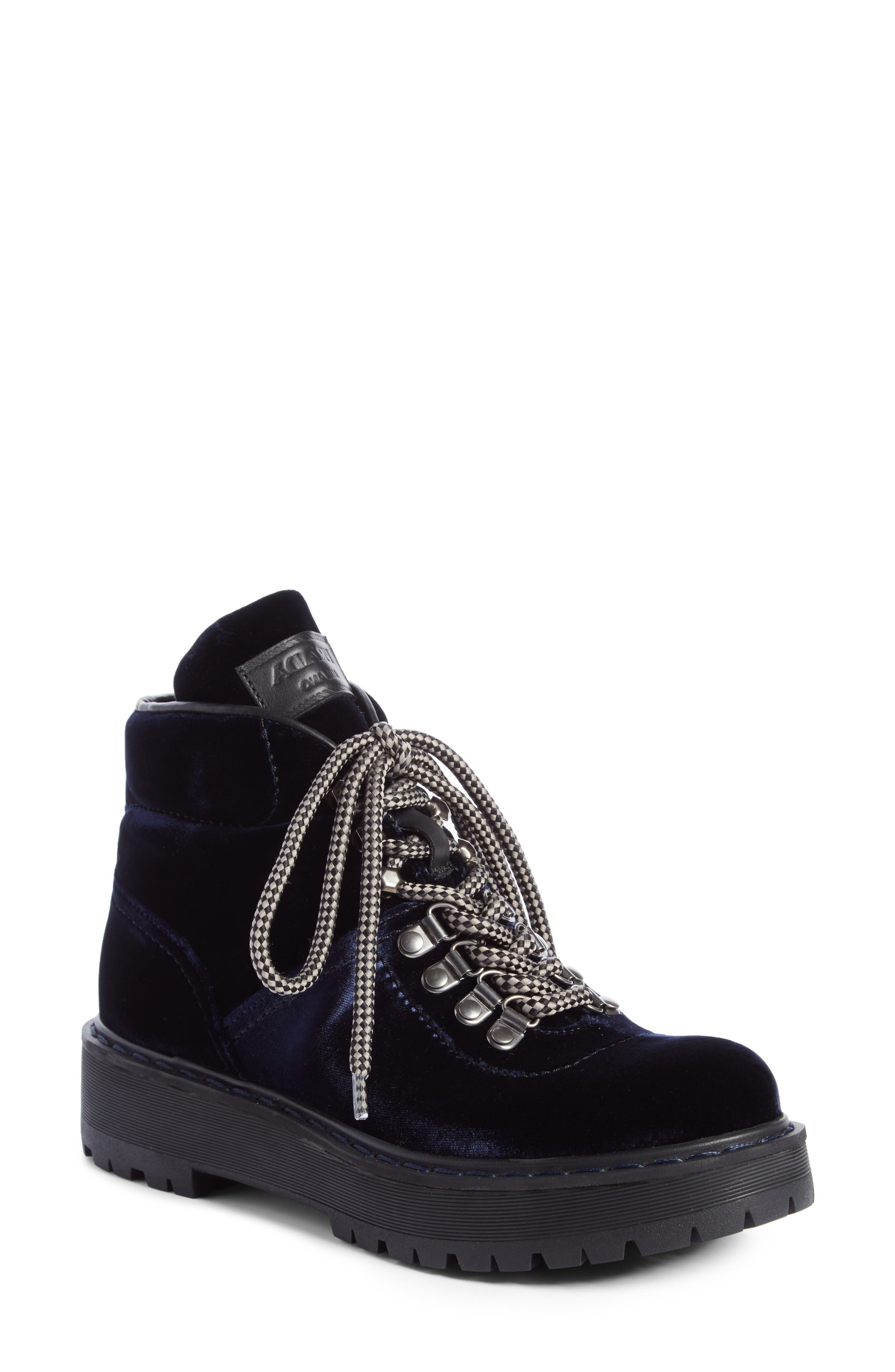 Lace-Up Bootie,                             Main thumbnail 1, color,                             Navy