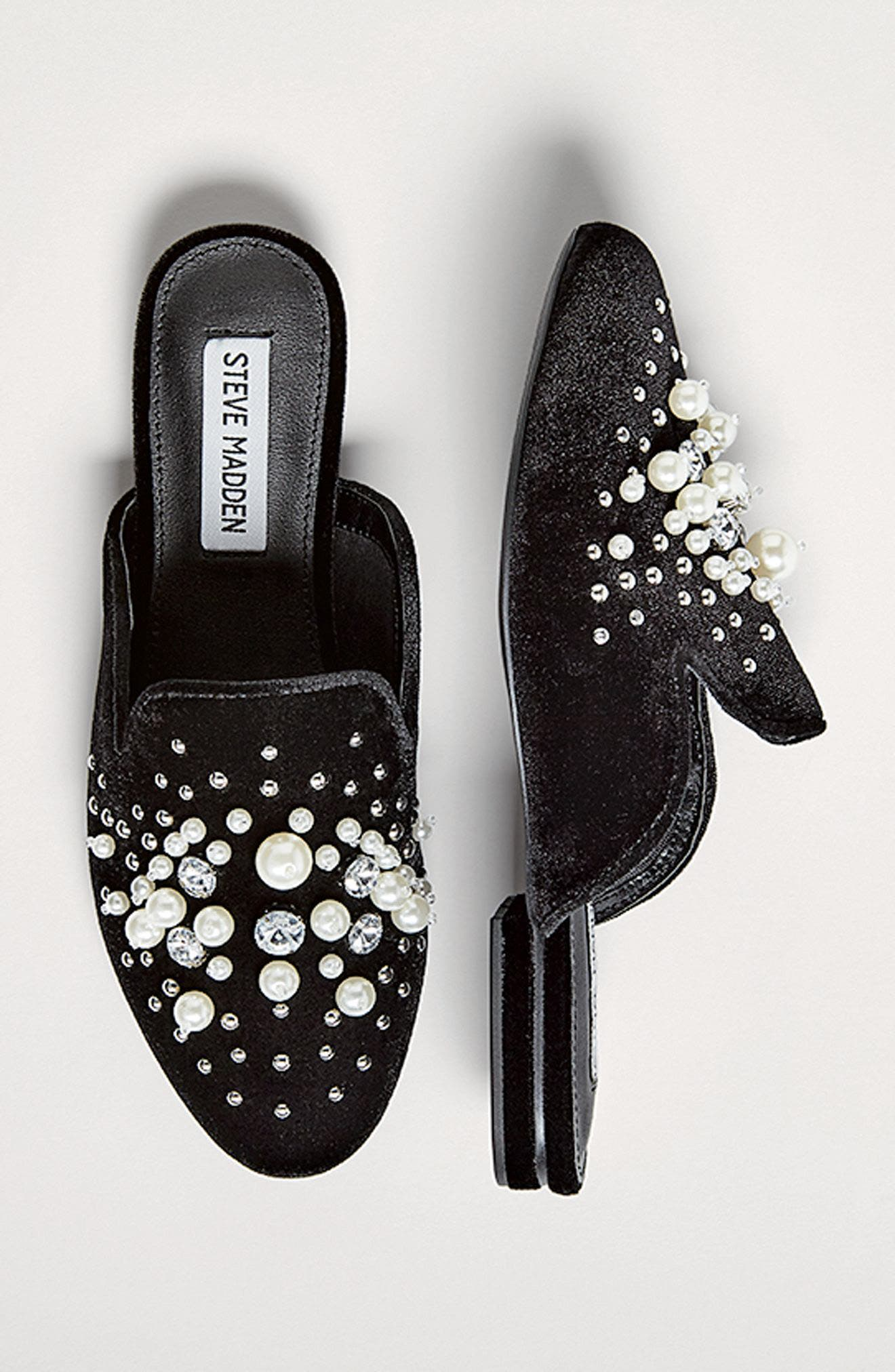 Alternate Image 7  - Steve Madden Imitation Pearl Embellished Mule (Women)