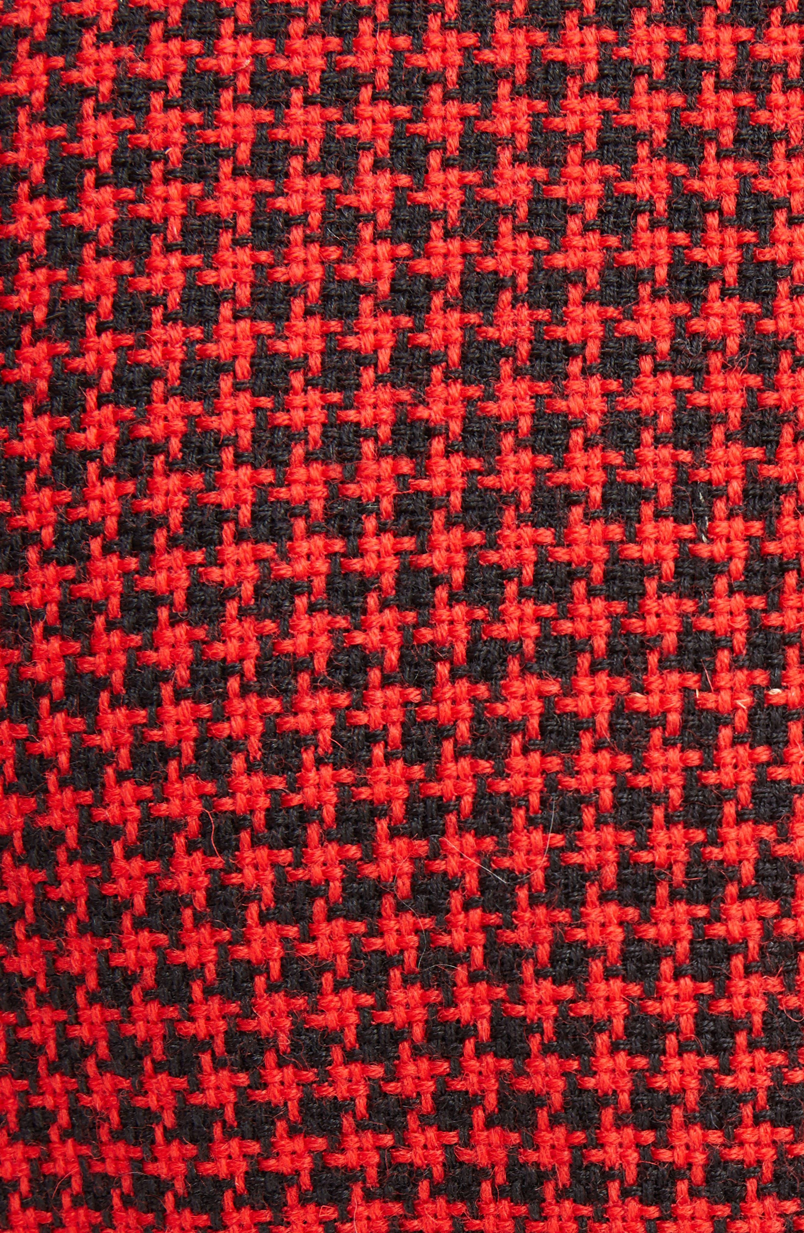 Paladini Houndstooth Wool Jacket,                             Alternate thumbnail 5, color,                             Scarlet/ Black
