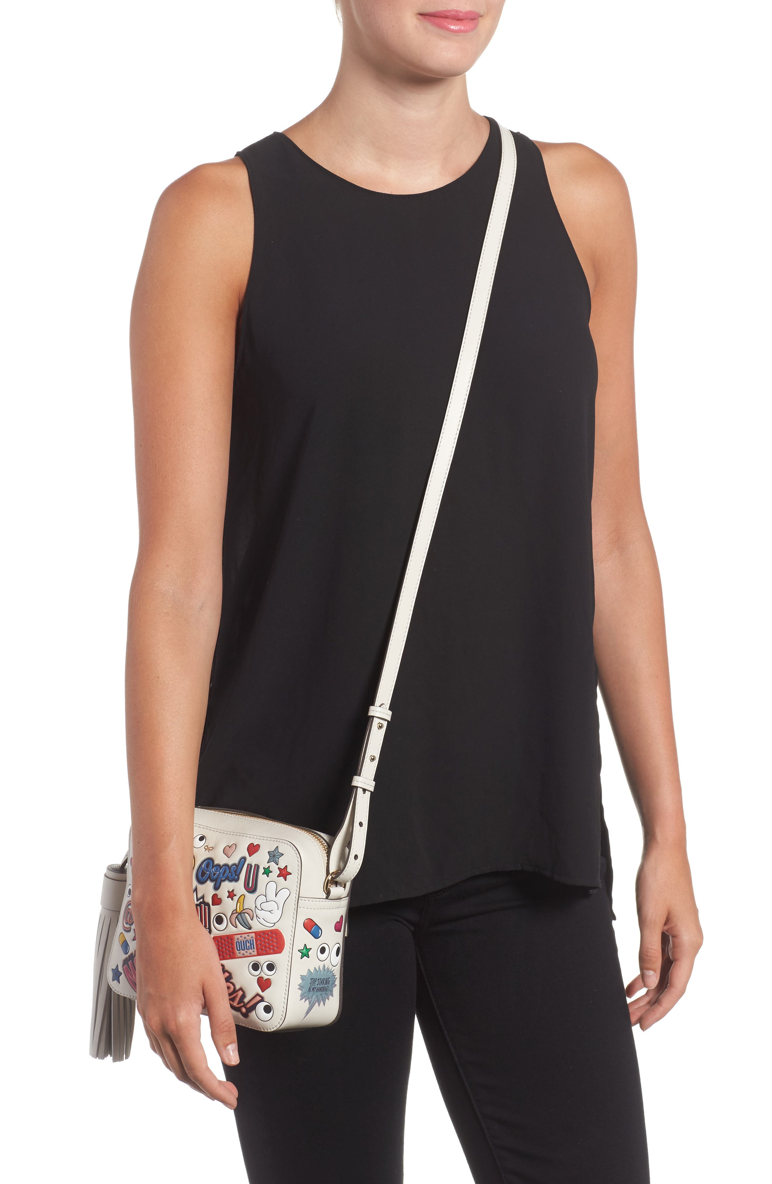 Alternate Image 2  - Anya Hindmarch Allover Sticker Leather Crossbody Bag