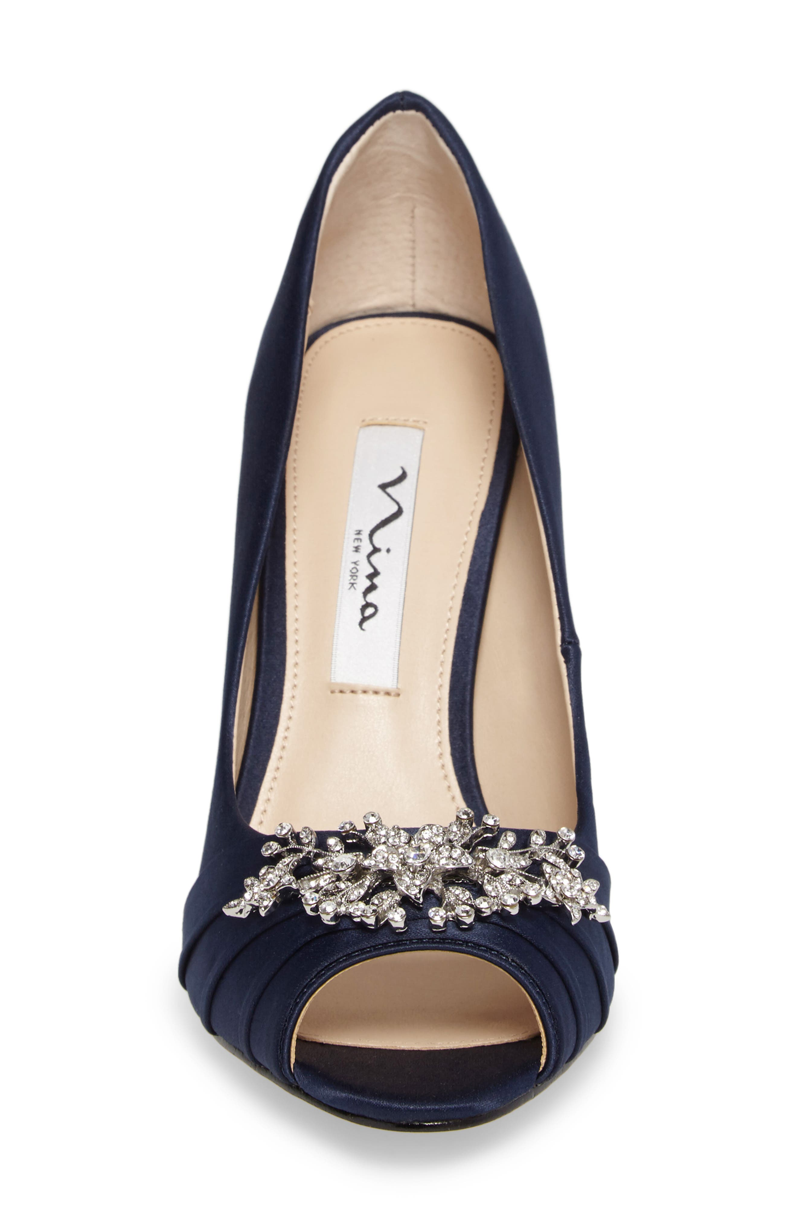 Alternate Image 3  - Nina Rumina Embellished Peep Toe Pump (Women)