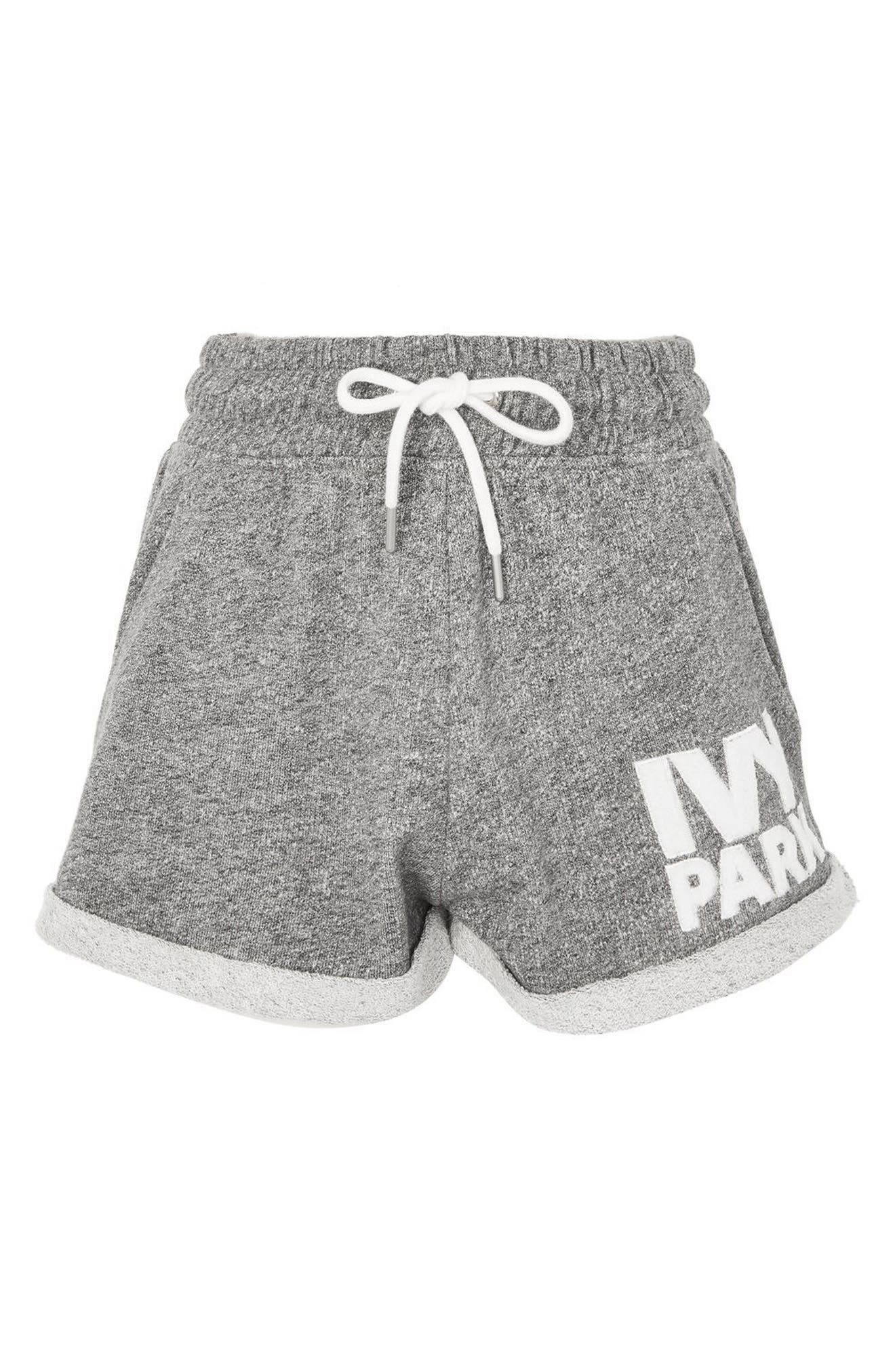 Alternate Image 1 Selected - IVY PARK® Chenille Logo Shorts