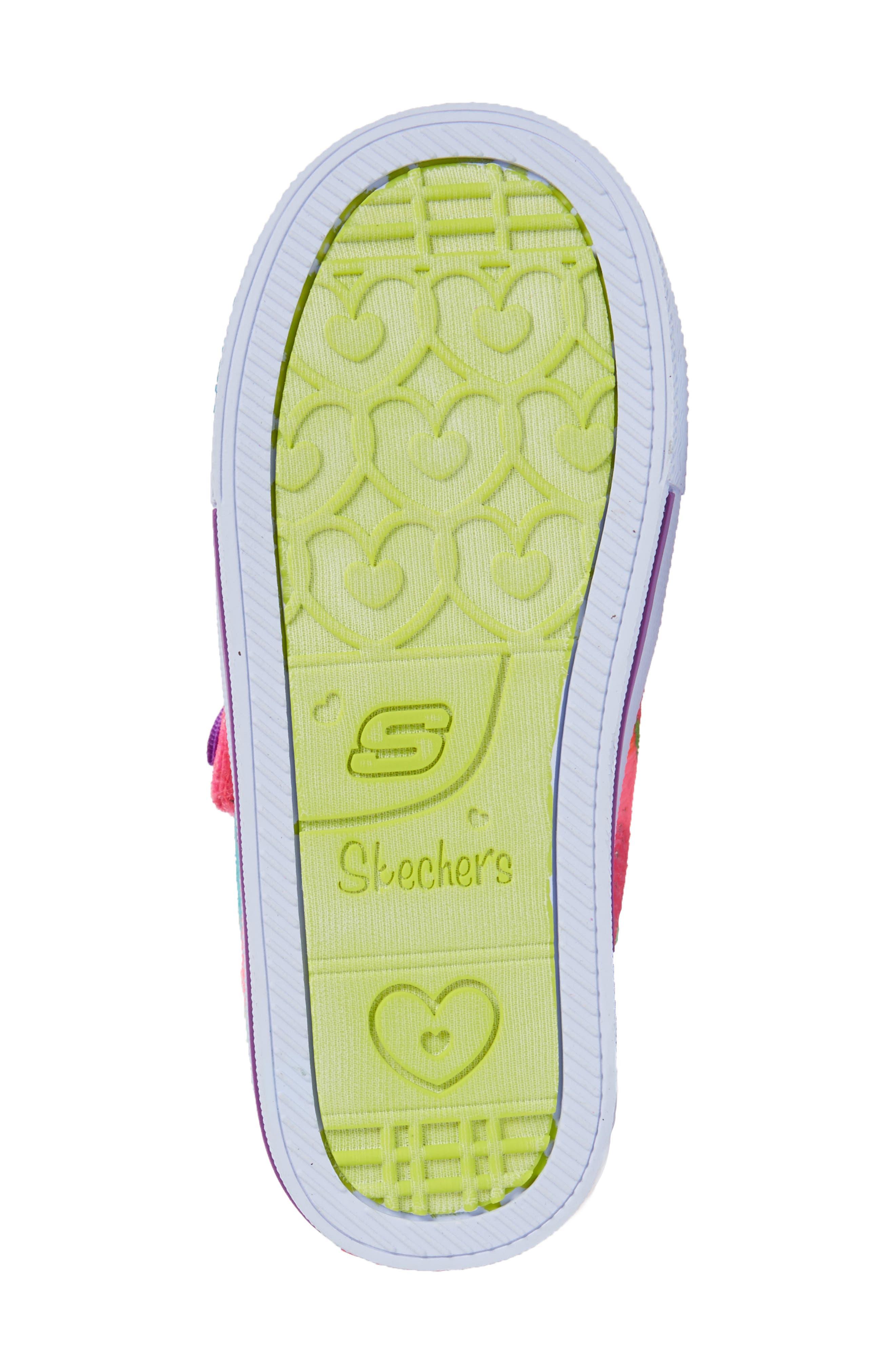 Alternate Image 6  - SKECHERS Twinkle Toes Shuffles Light-Up Sneaker (Walker & Toddler)