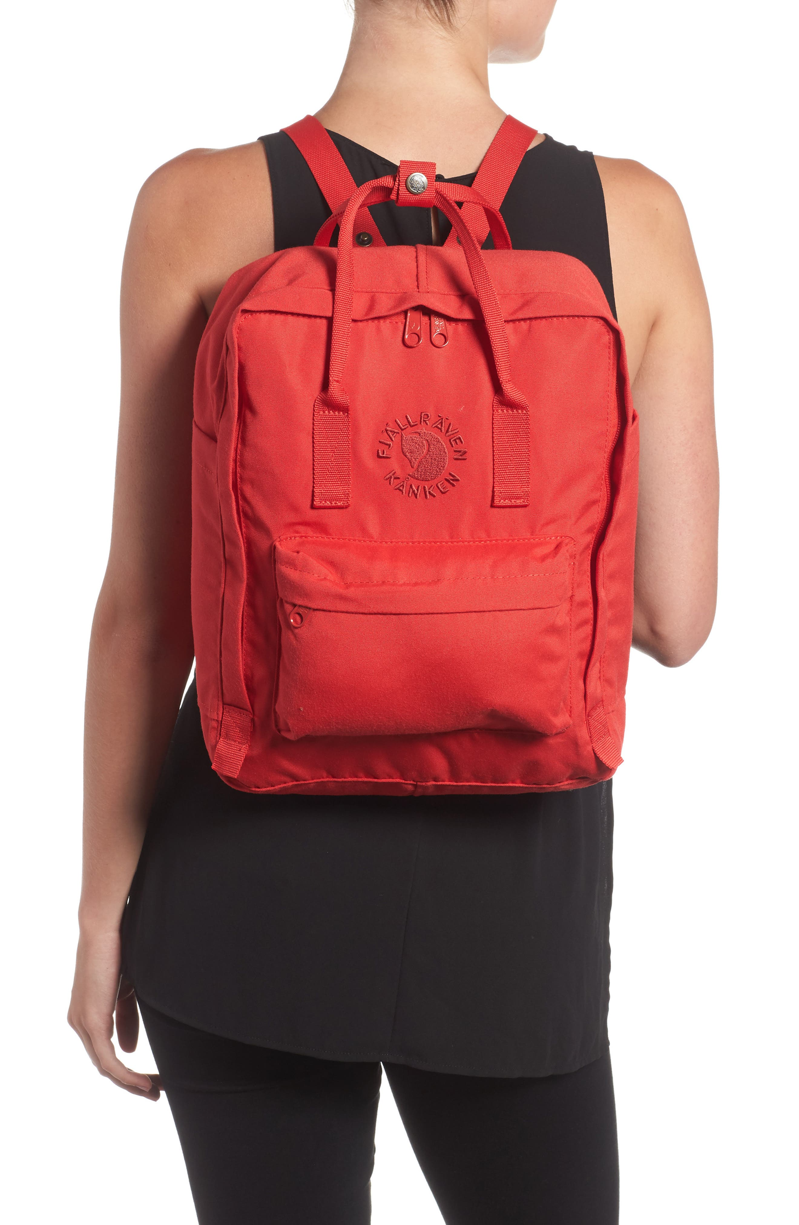 Re-Kånken Water Resistant Backpack,                             Alternate thumbnail 2, color,                             Red
