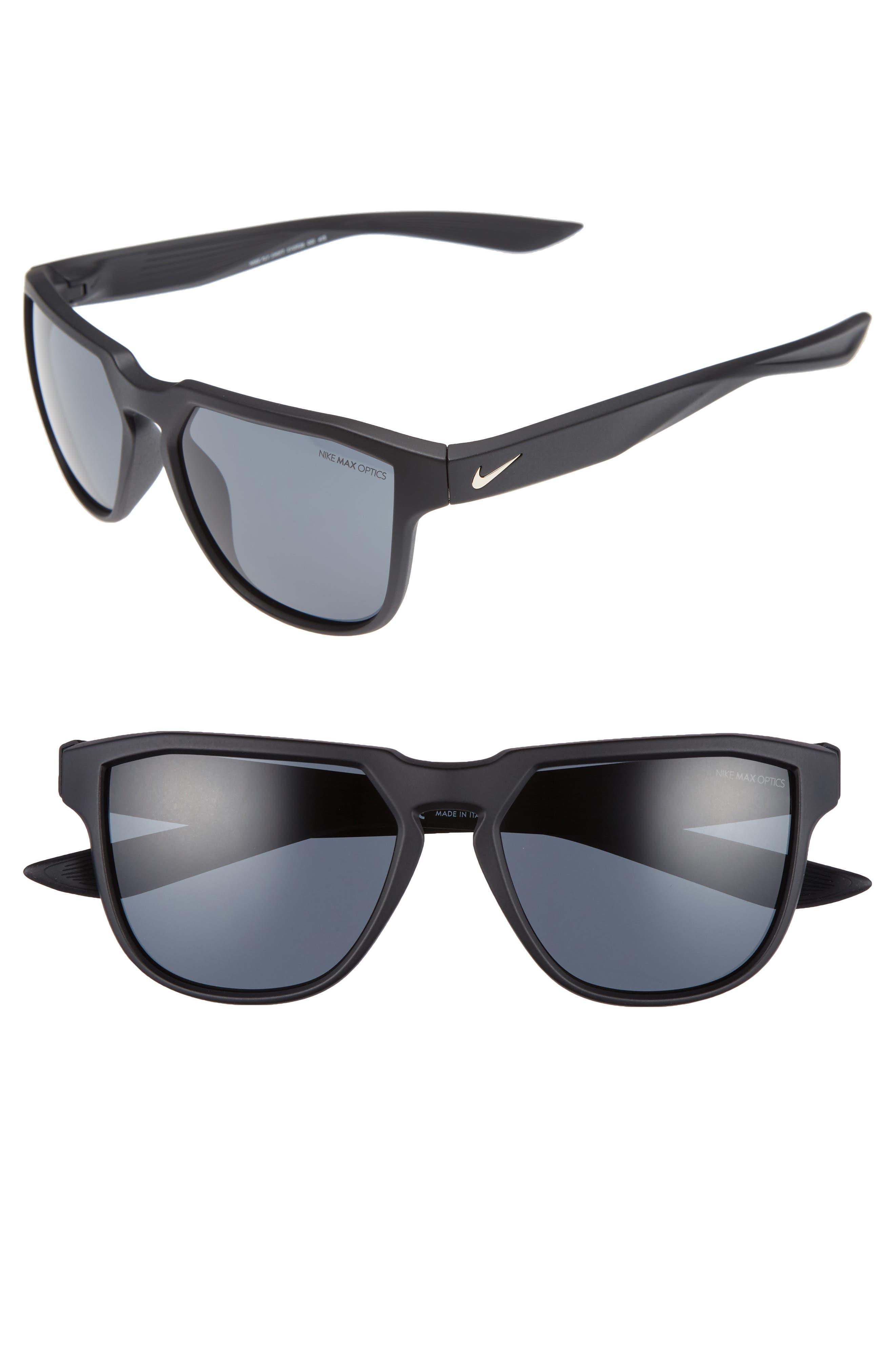 Fly Swift 57mm Sunglasses,                             Main thumbnail 1, color,                             Matte Black/ Gold