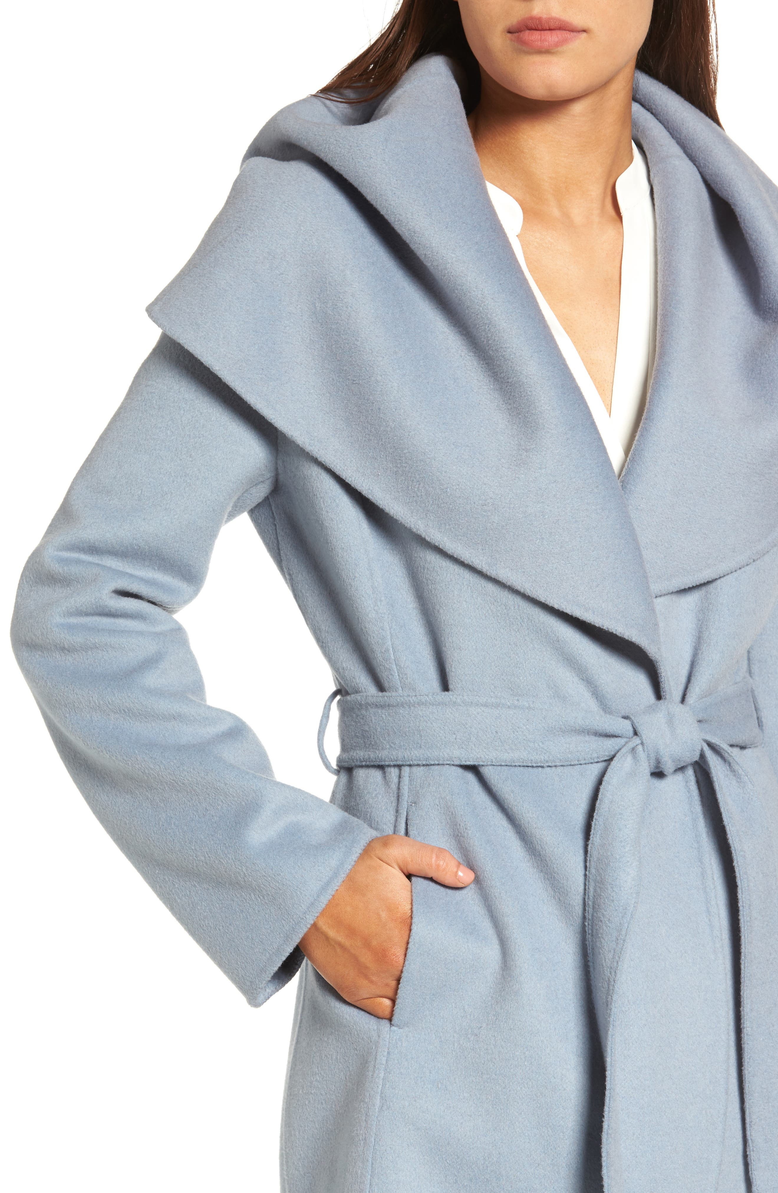 Alternate Image 4  - Tahari Marla Double Face Wool Blend Wrap Coat