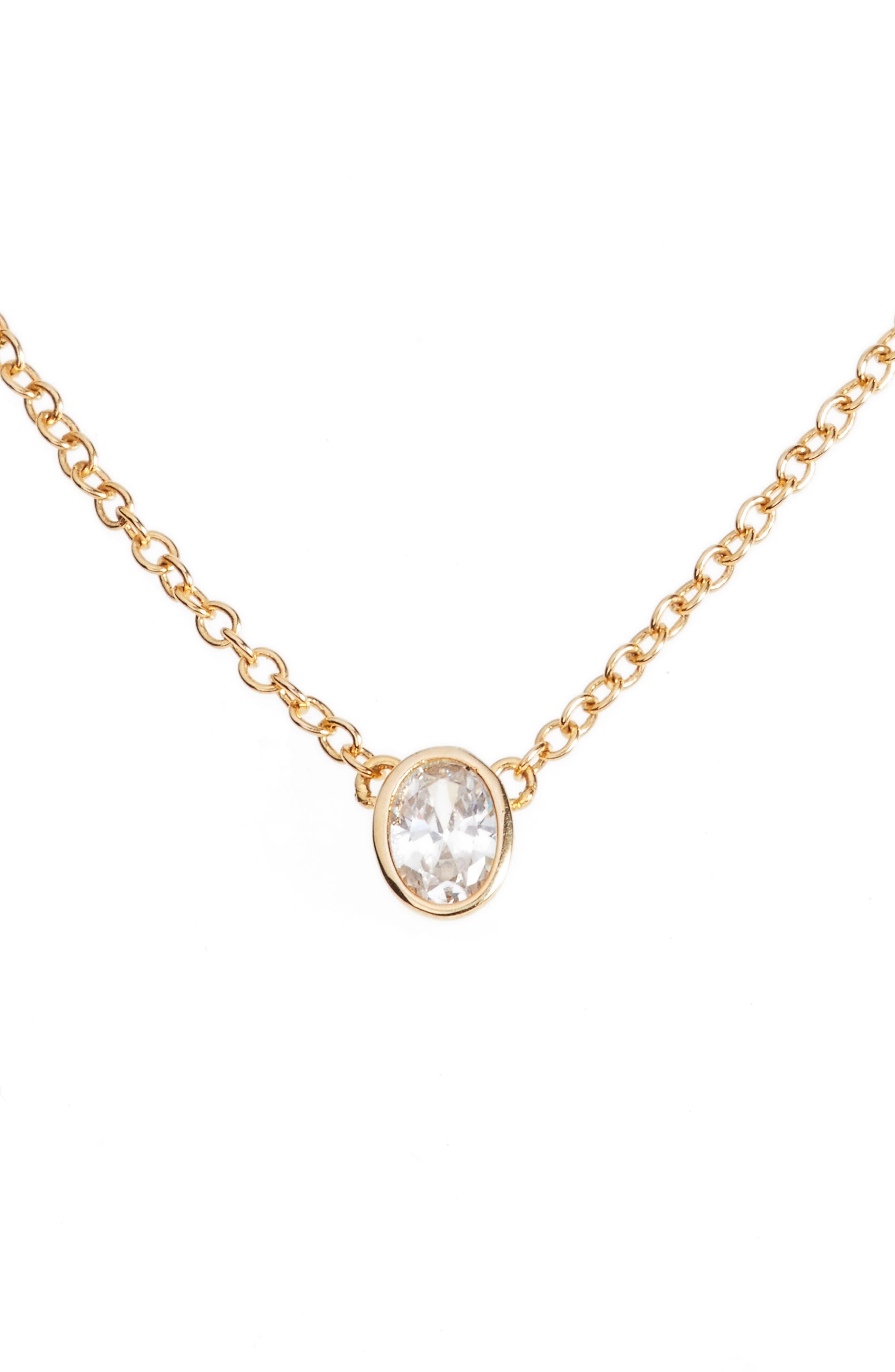 Main Image - Melinda Maria Single Thorn Pendant Necklace
