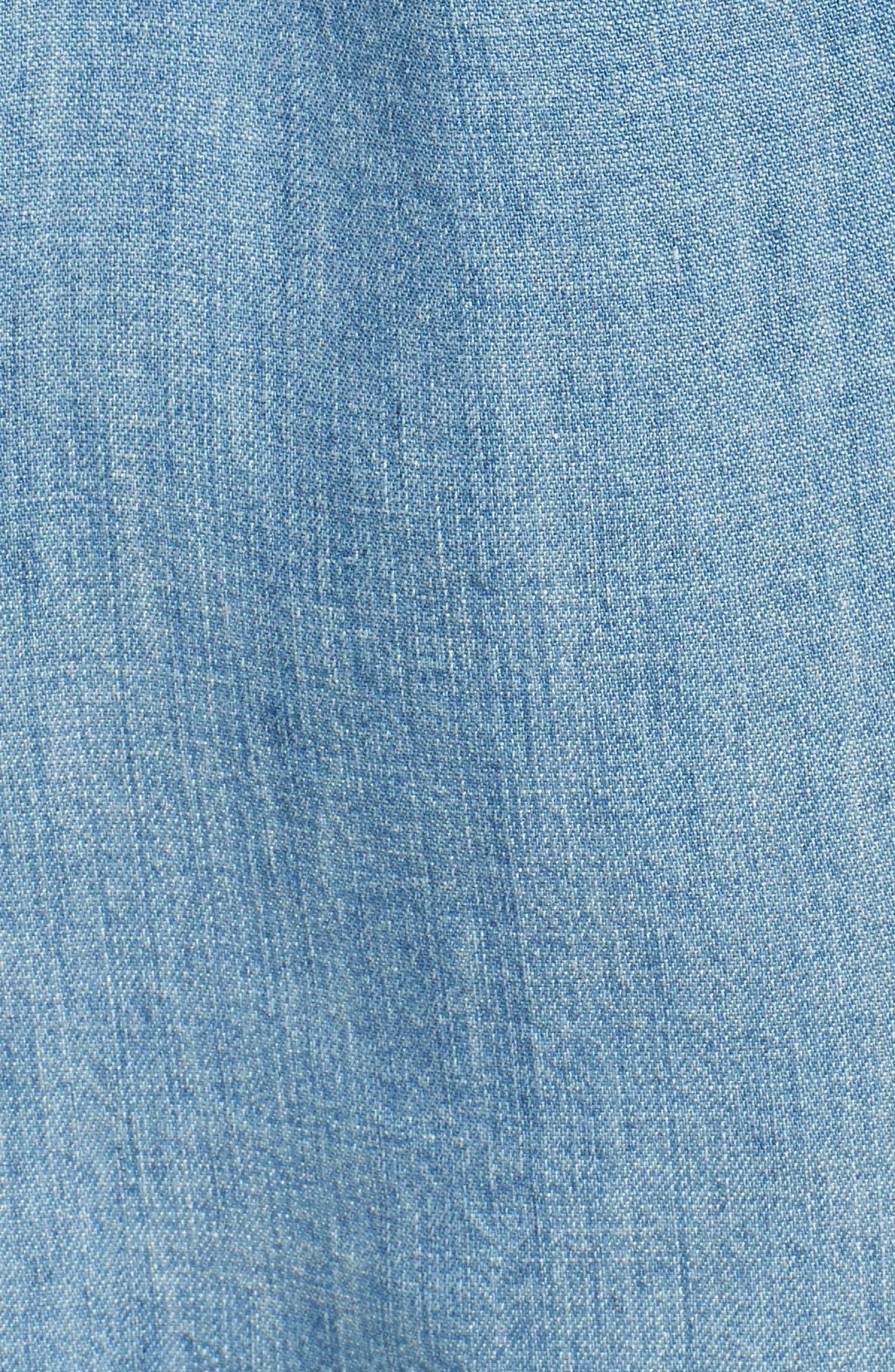 Jimi Chambray Shirt,                             Alternate thumbnail 5, color,                             Medium Vintage Wash