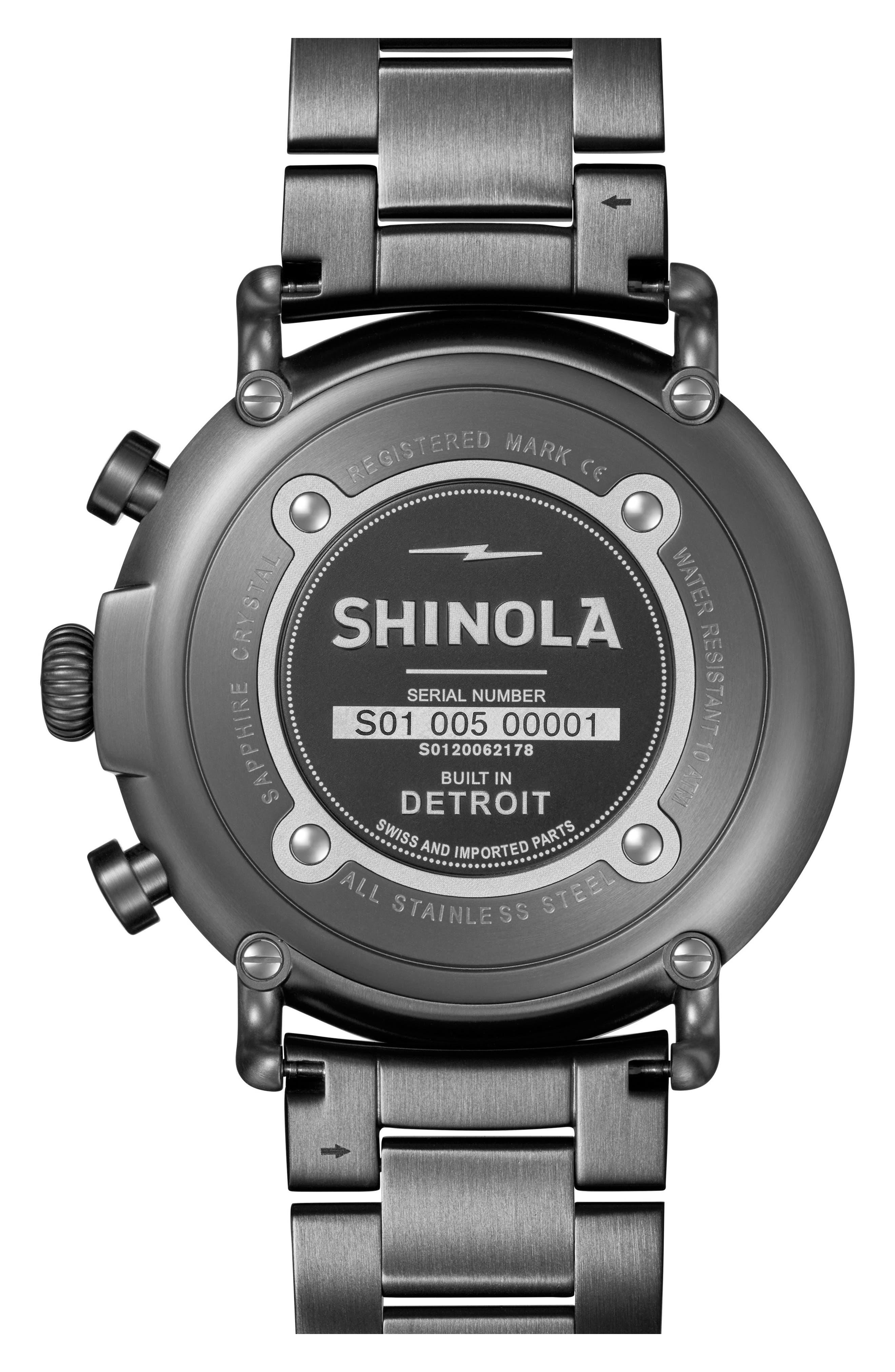 Alternate Image 3  - Shinola 'The Runwell Chrono' Bracelet Watch, 47mm