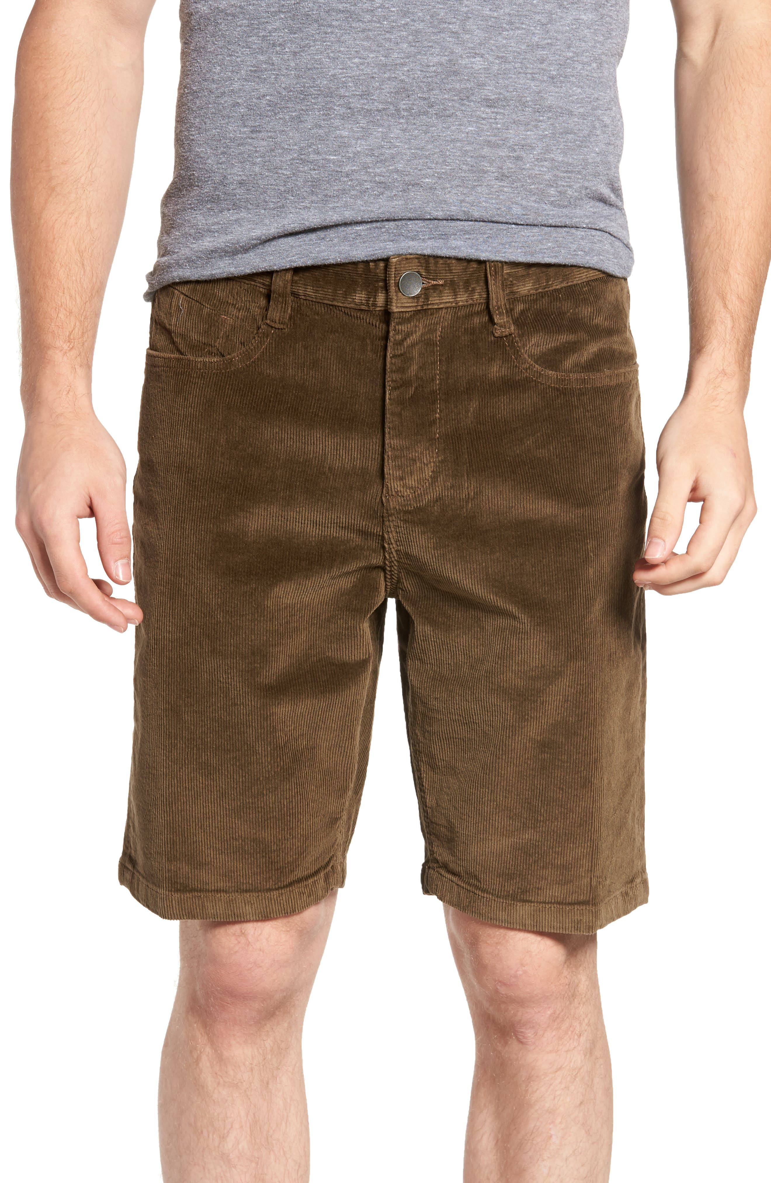 Outsider Corduroy Shorts,                         Main,                         color, Brown