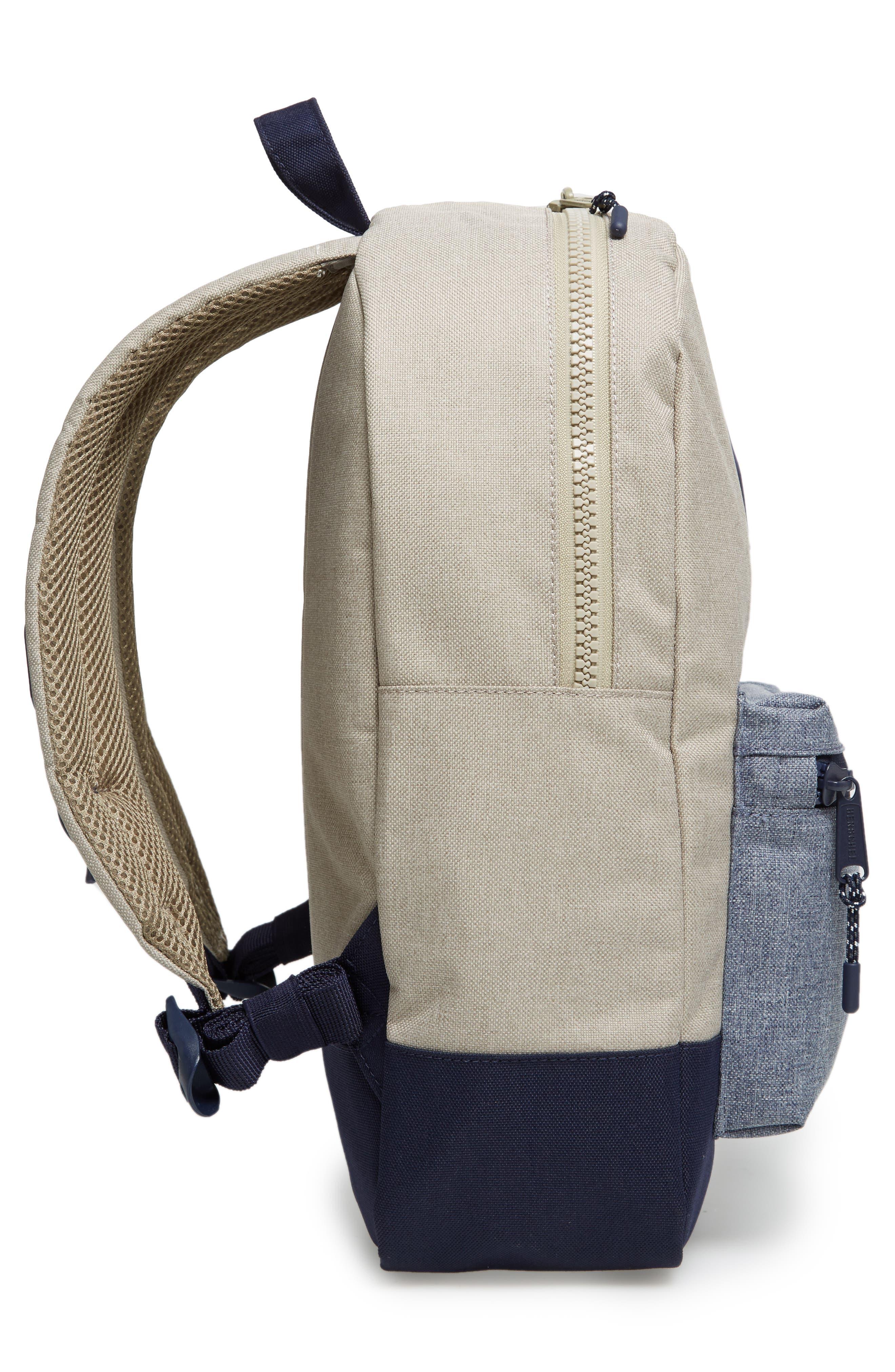 Heritage Backpack,                             Alternate thumbnail 4, color,                             Khaki Chambray Crosshatch