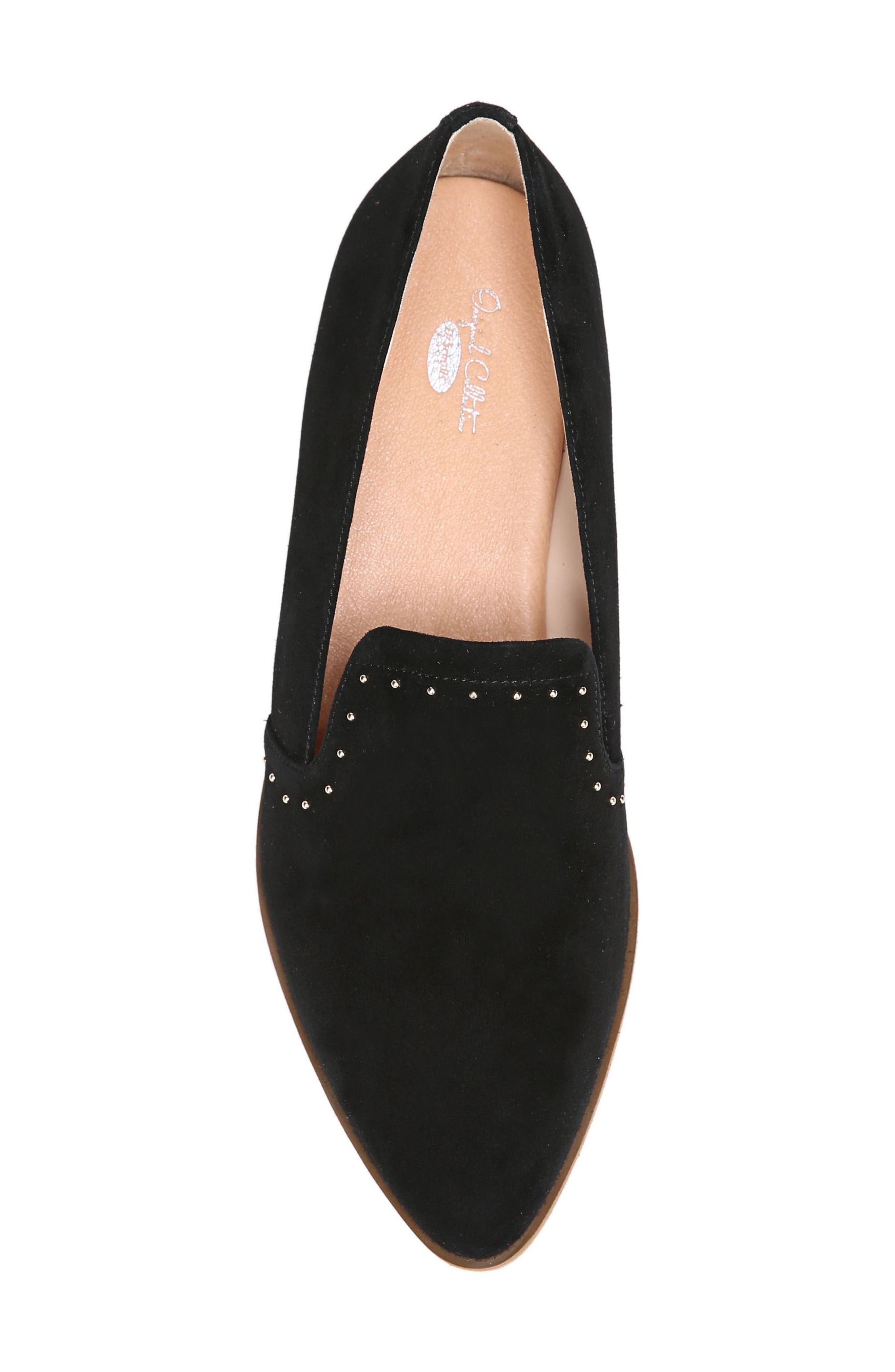 Keane Loafer Wedge,                             Alternate thumbnail 5, color,                             Black Suede