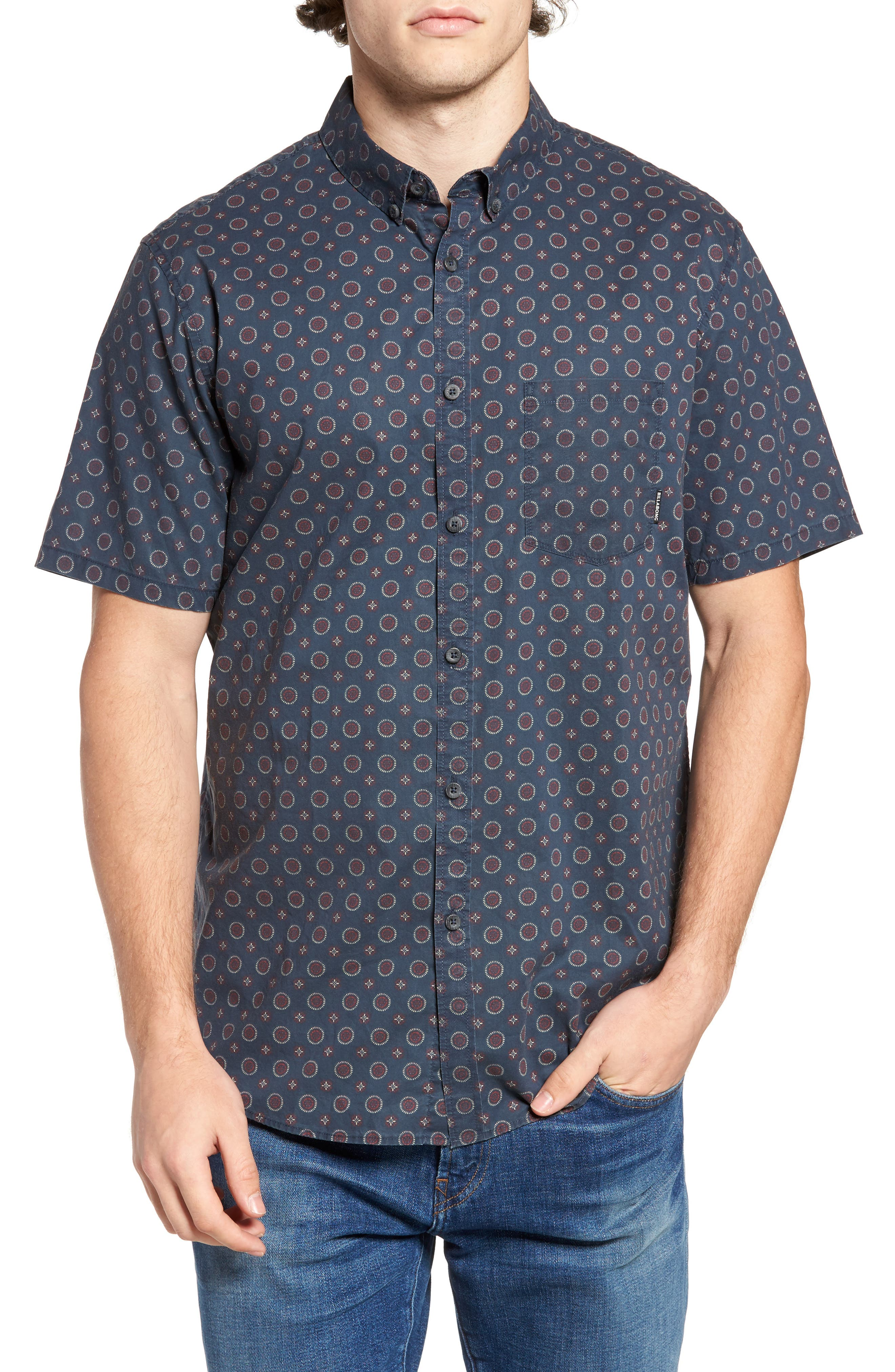 Sundays Mini Woven Shirt,                             Main thumbnail 1, color,                             Blue
