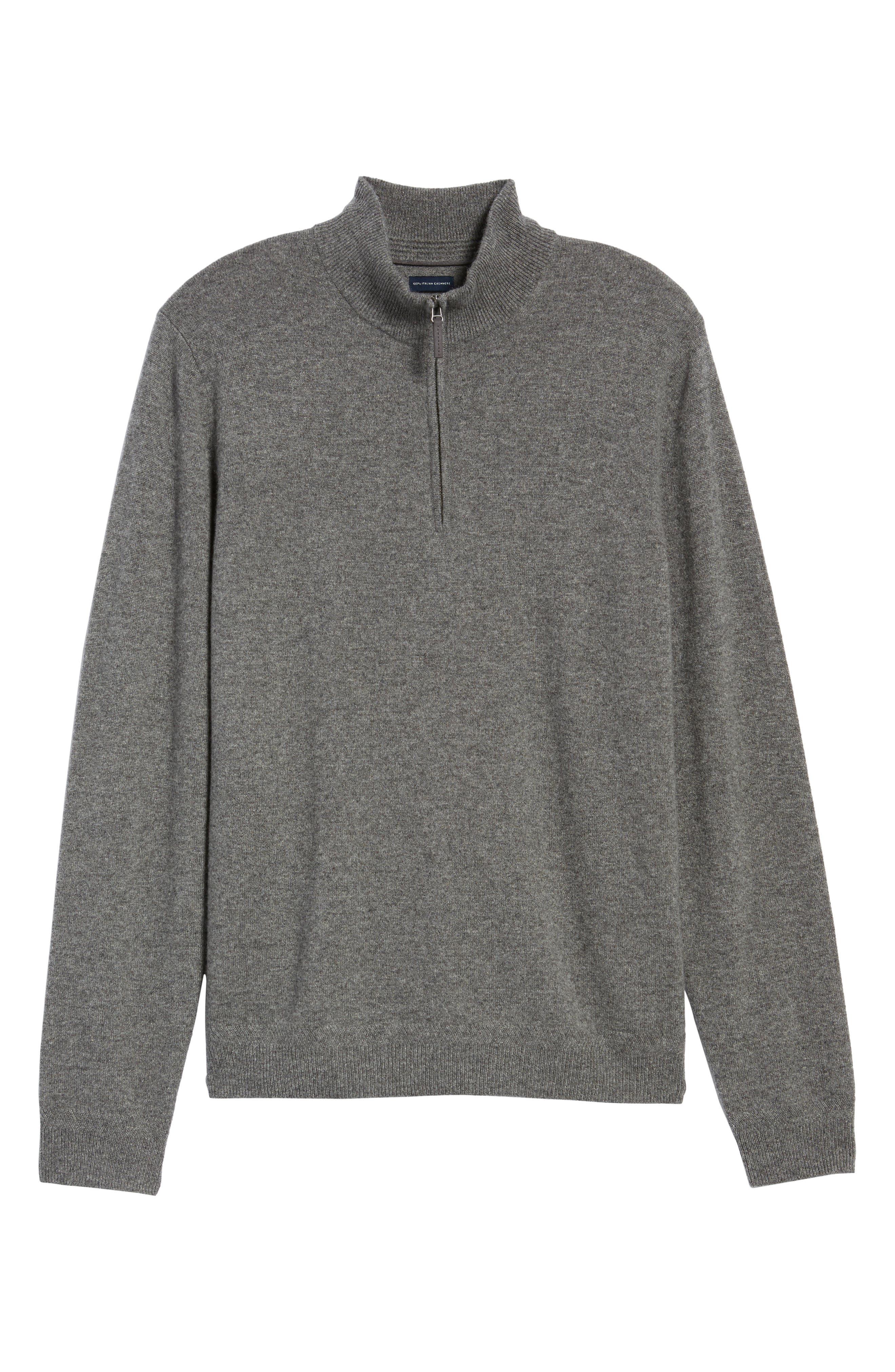 Alternate Image 6  - John W. Nordstrom® Quarter Zip Cashmere Sweater (Regular & Tall)
