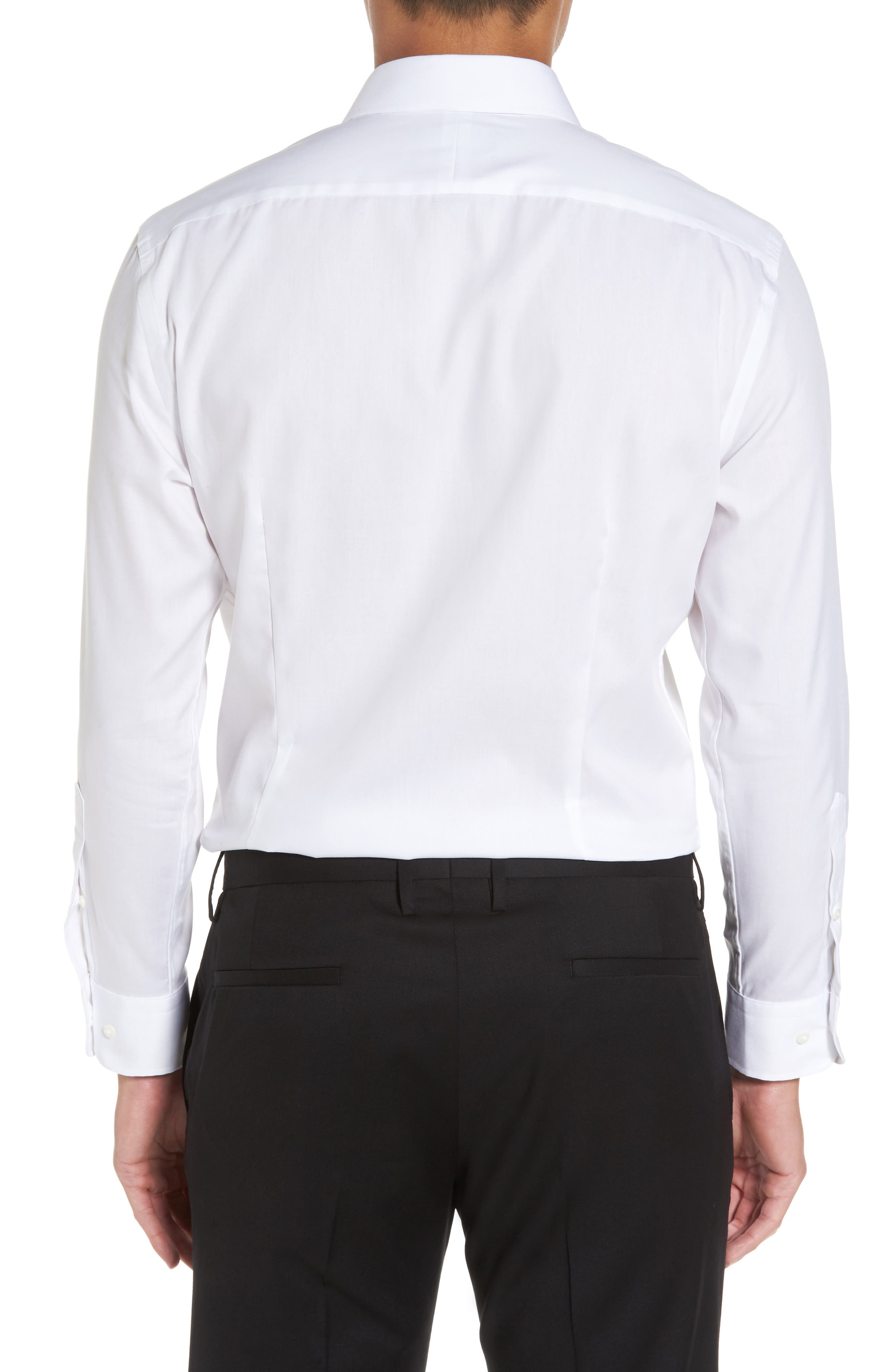 Alternate Image 3  - Nordstrom Men's Shop Extra Trim Fit Non-Iron Solid Dress Shirt