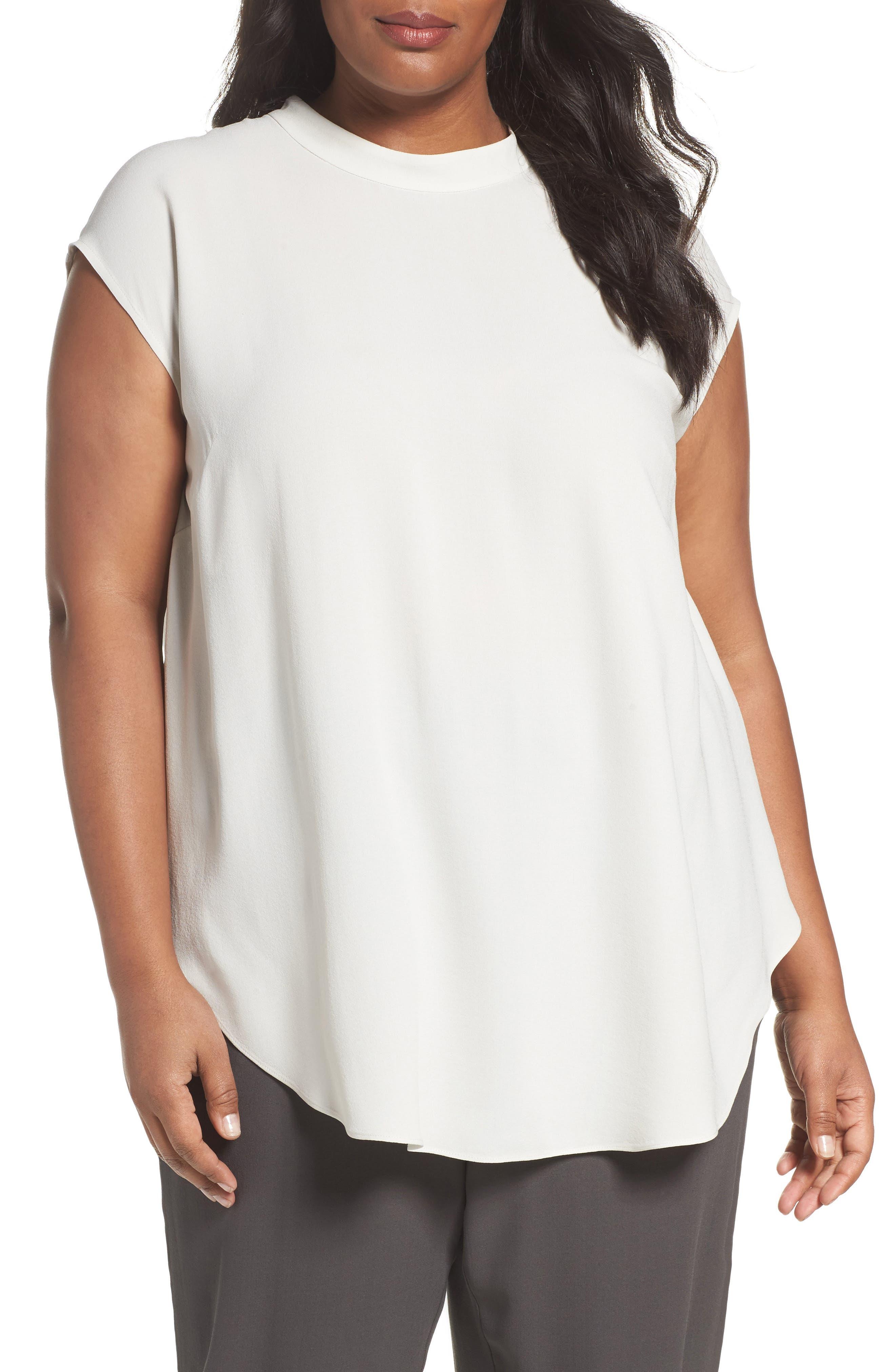 Eileen Fisher Silk Tunic (Plus Size)