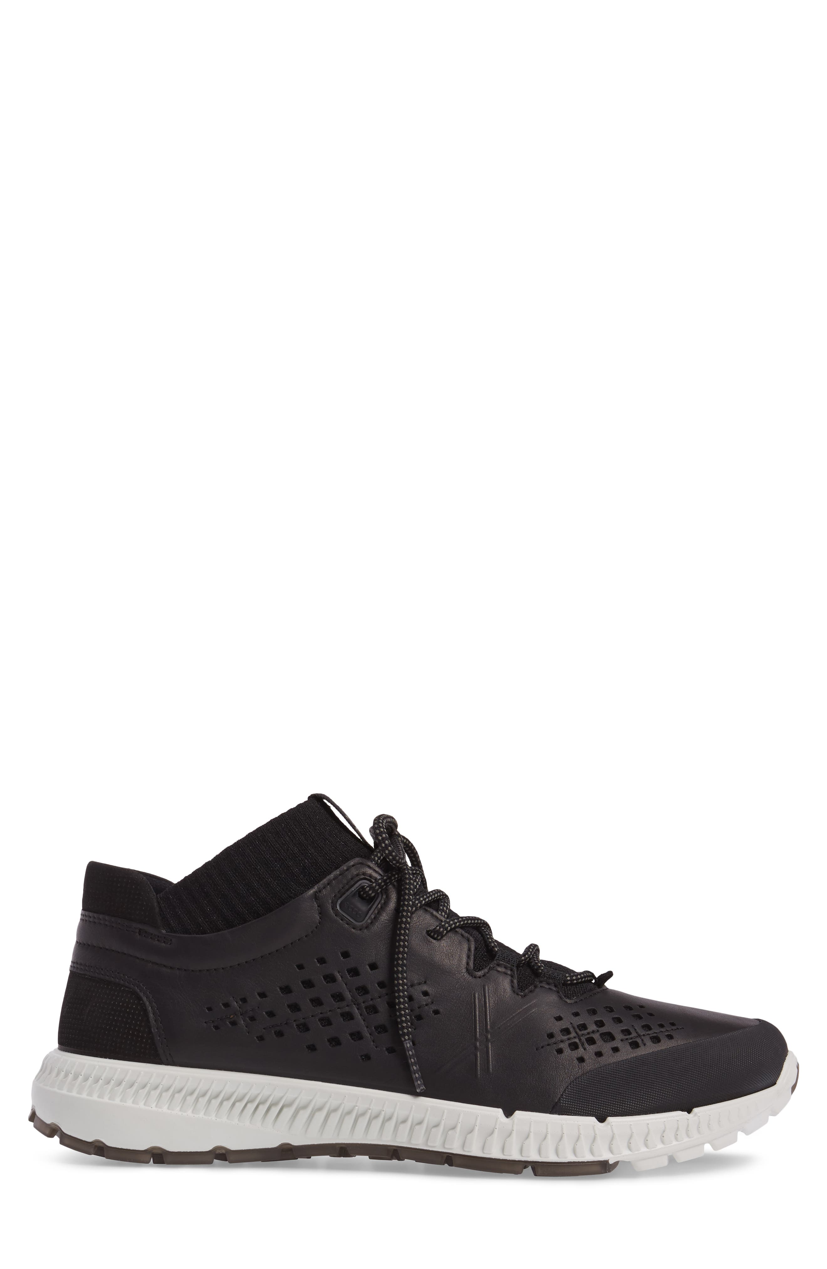 Intrinsic Mid Sneaker,                             Alternate thumbnail 3, color,                             Black Leather