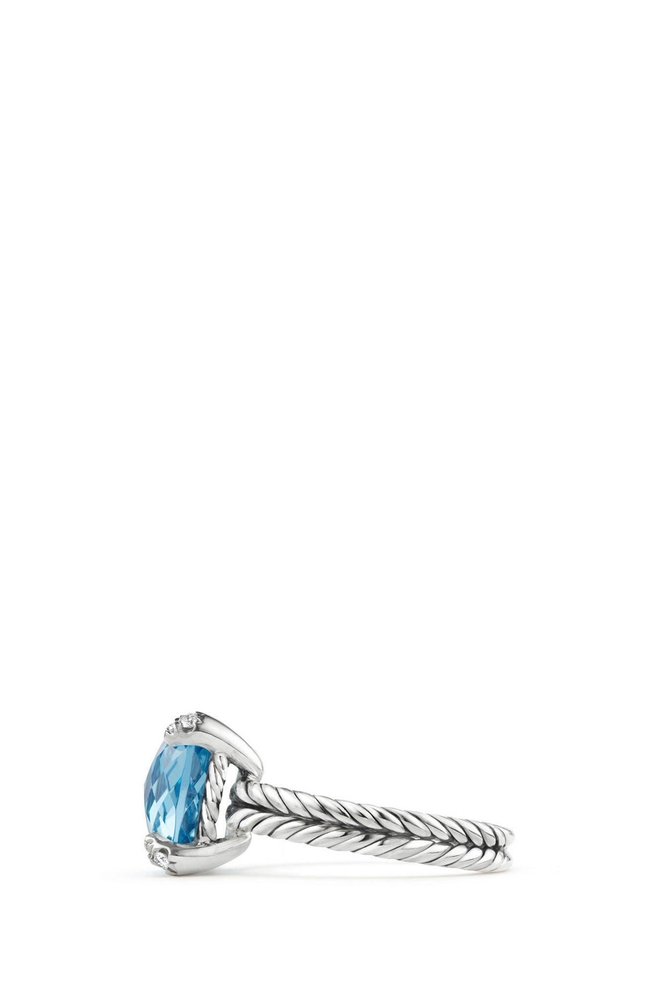Alternate Image 2  - David Yurman Châtelaine Ring with Semiprecious Stone & Diamonds