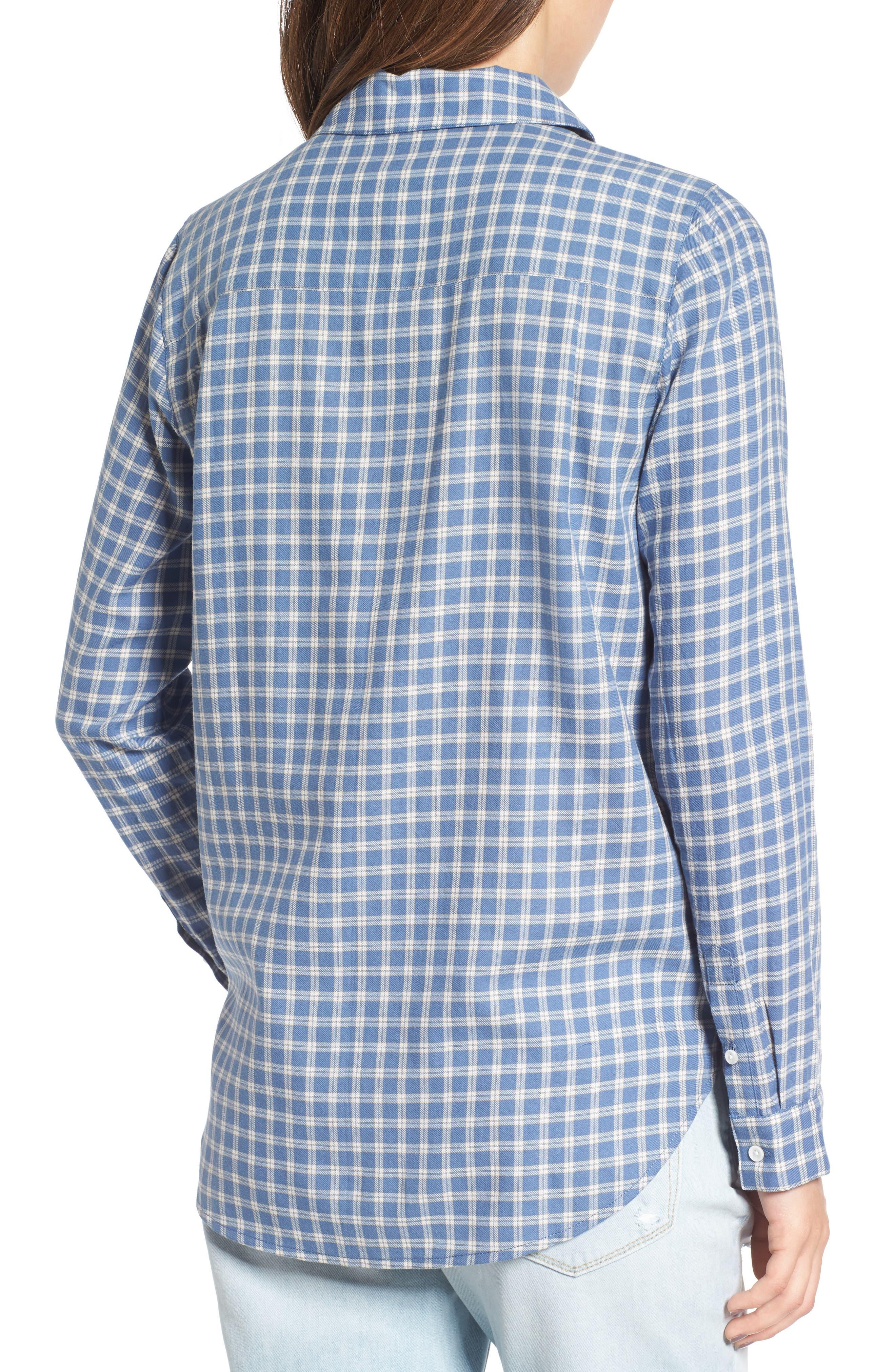 Classic Plaid Shirt,                             Alternate thumbnail 2, color,                             Blue Moonlight Grid Check