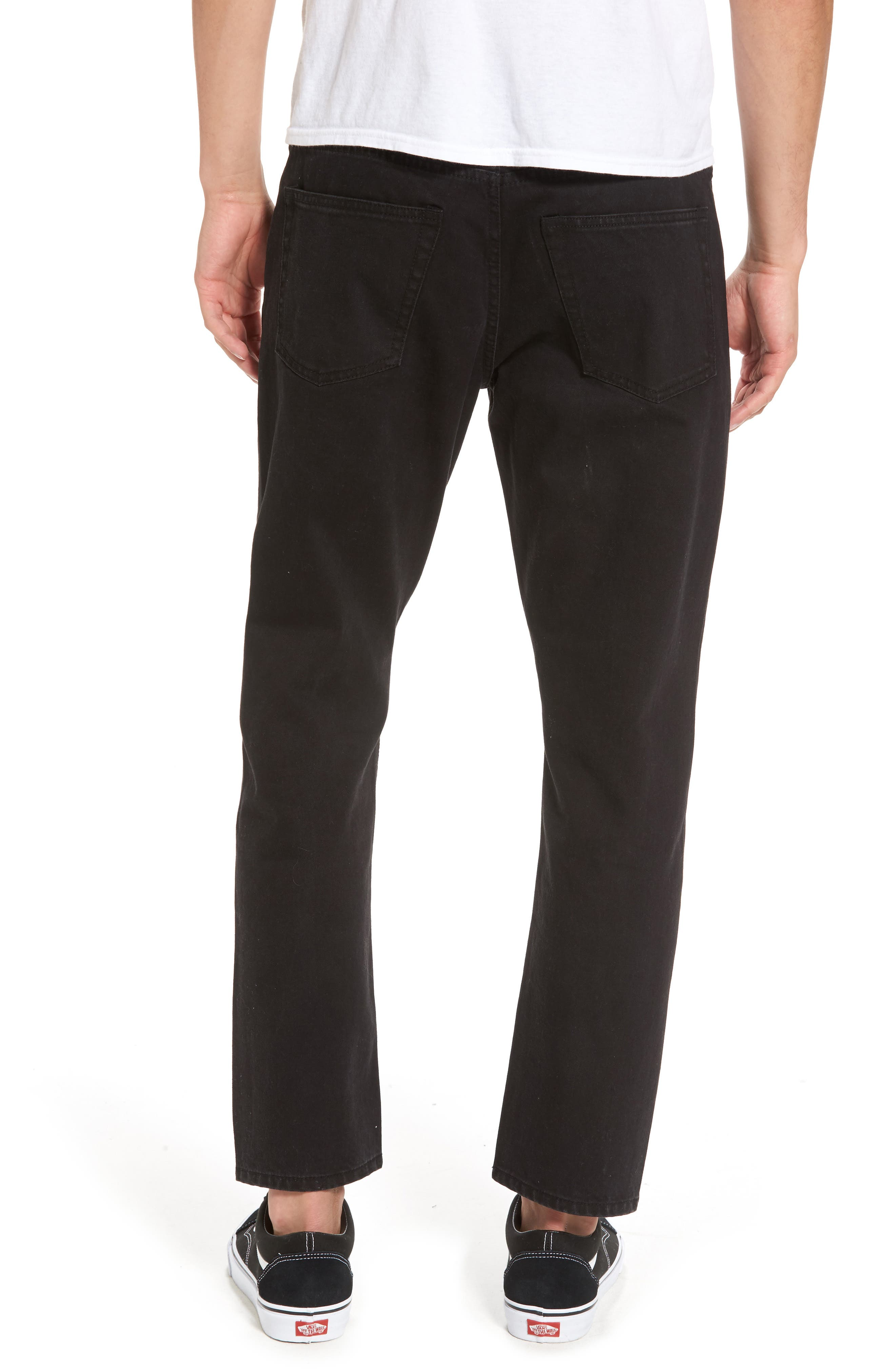In Law Skinny Fit Jeans,                             Alternate thumbnail 2, color,                             Black