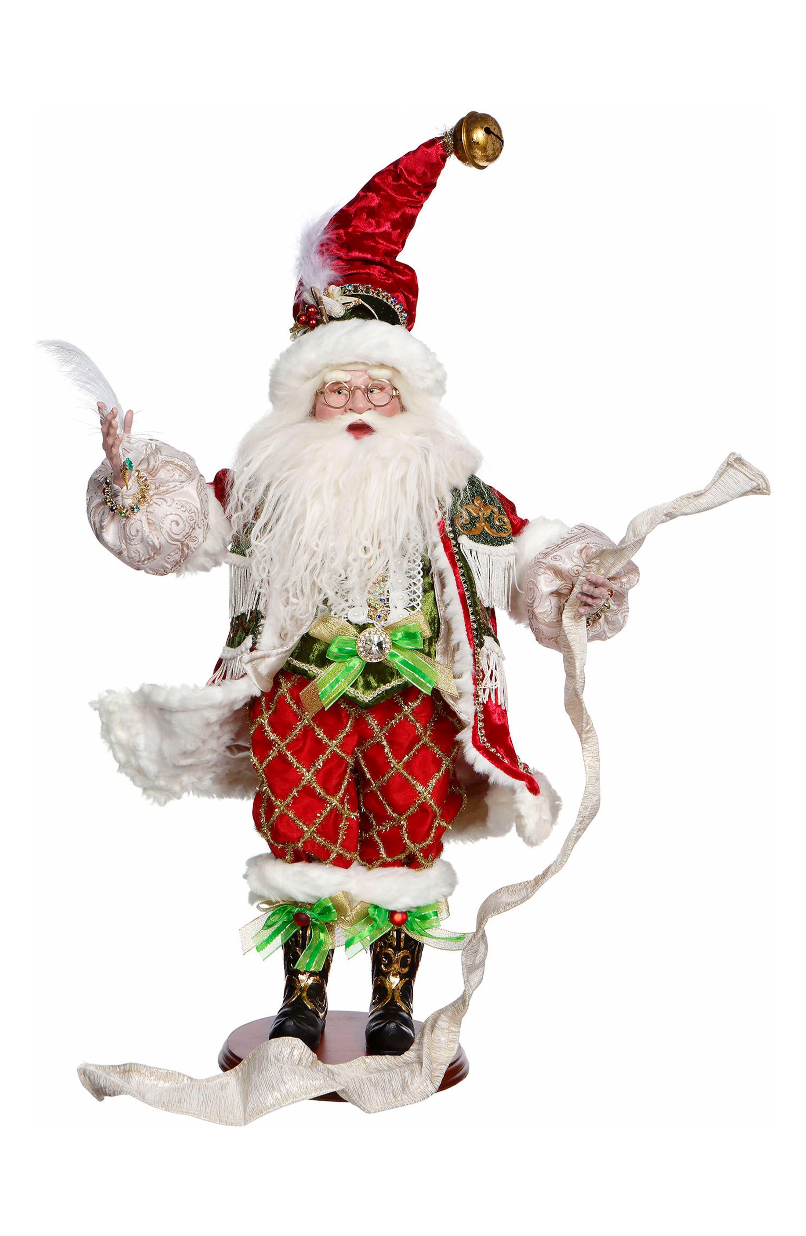 Checking His List Santa,                         Main,                         color, Red