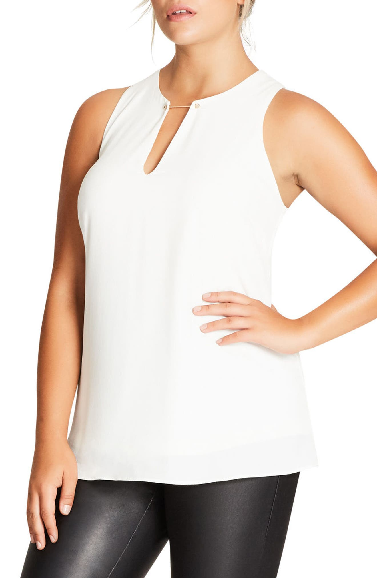 Main Image - City Chic Bar Bell Top (Plus Size)