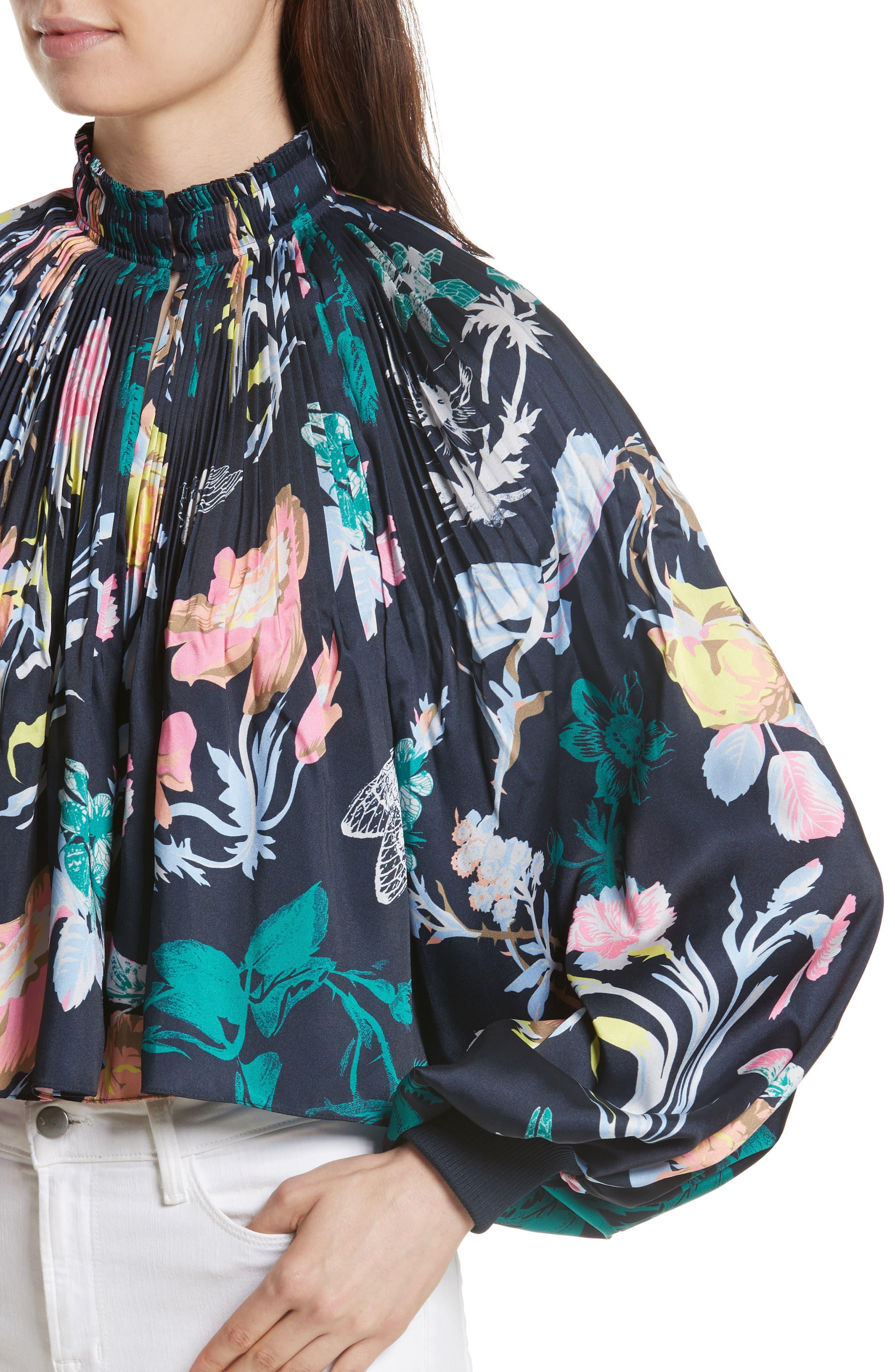 Alternate Image 4  - Tibi Edwardian Crop Floral Top