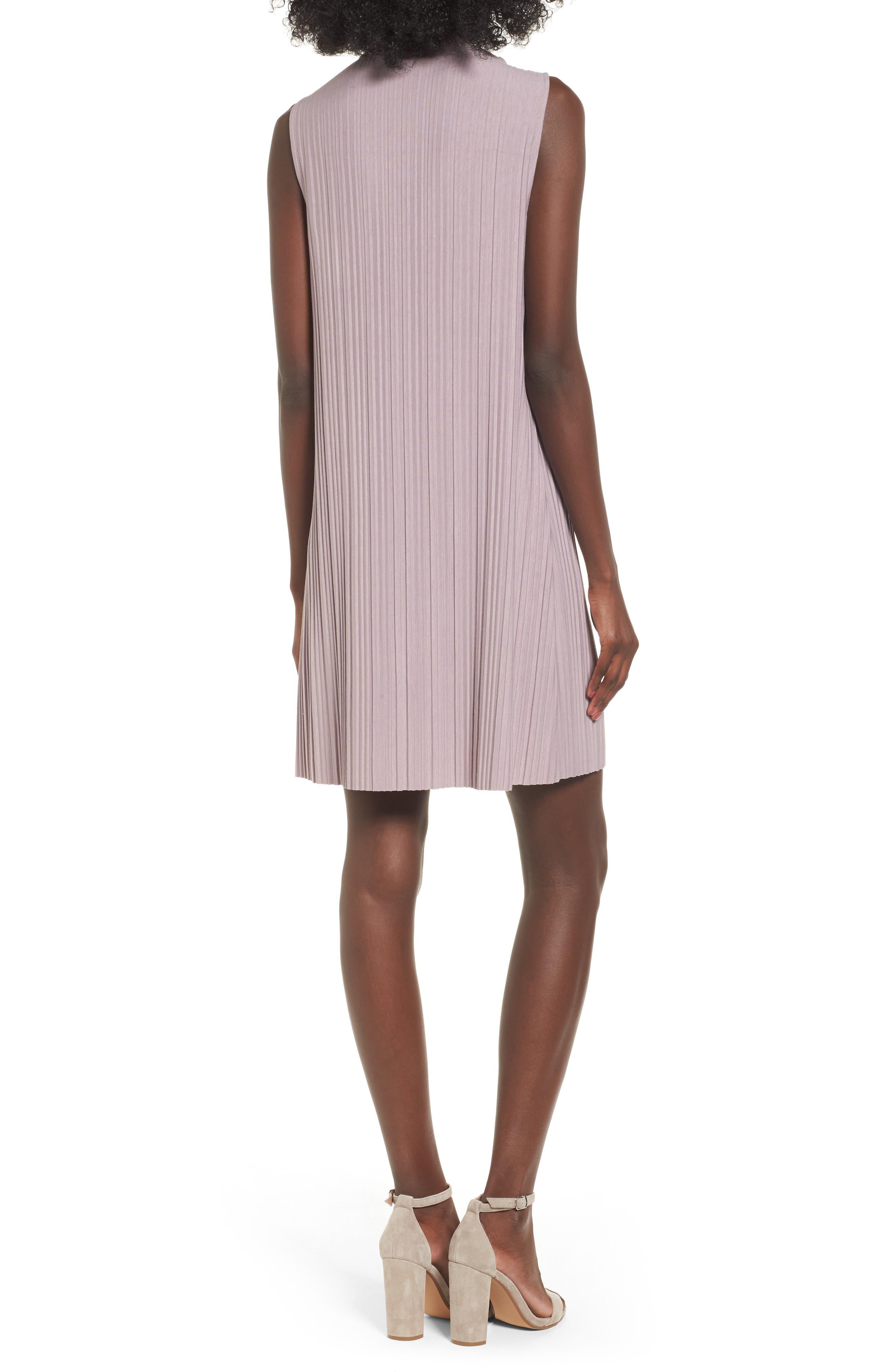 Alternate Image 2  - Leith Plissé Pleat Shift Dress