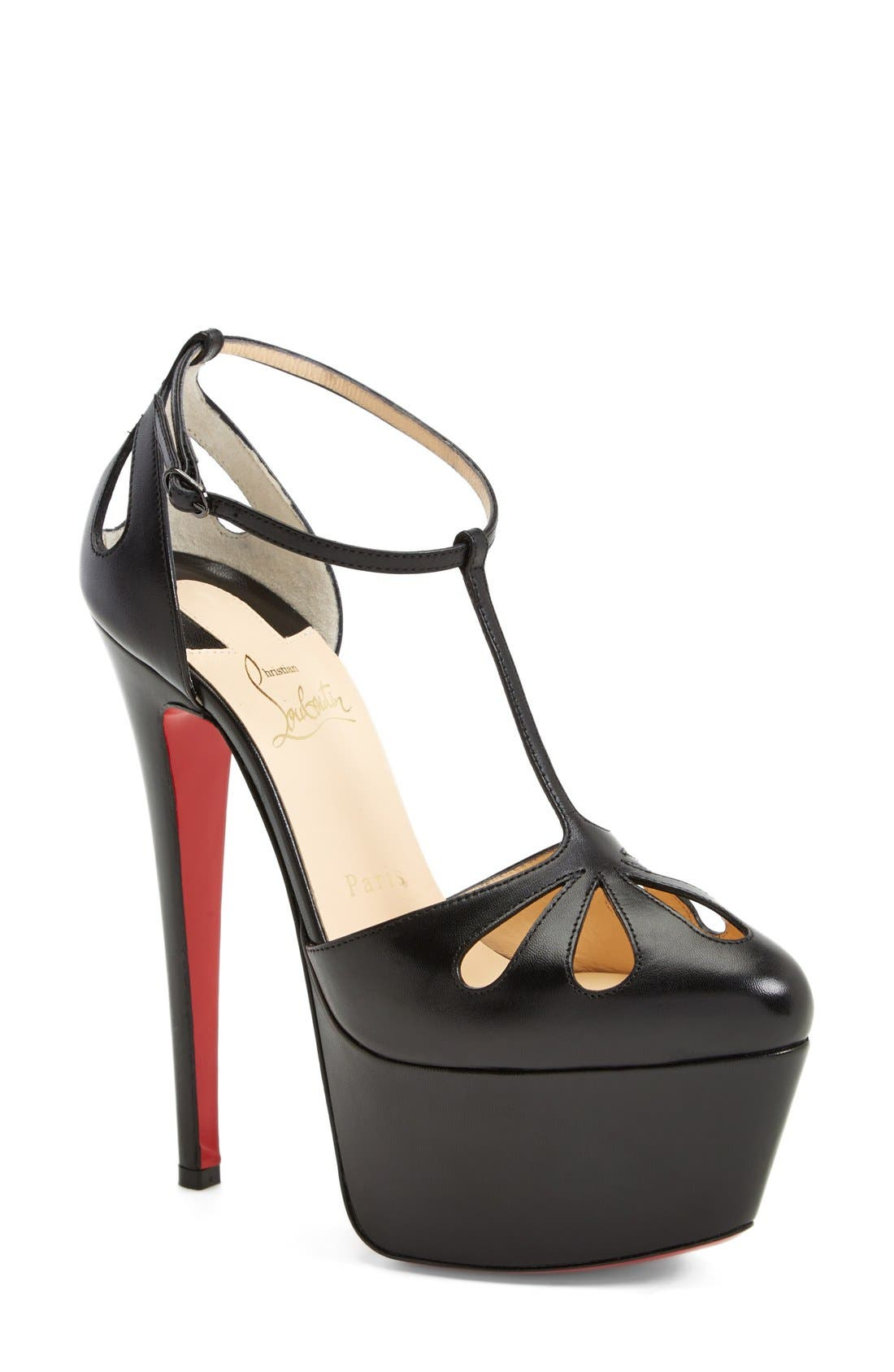 Alternate Image 1 Selected - Christian Louboutin T-Strap Cutout Pump