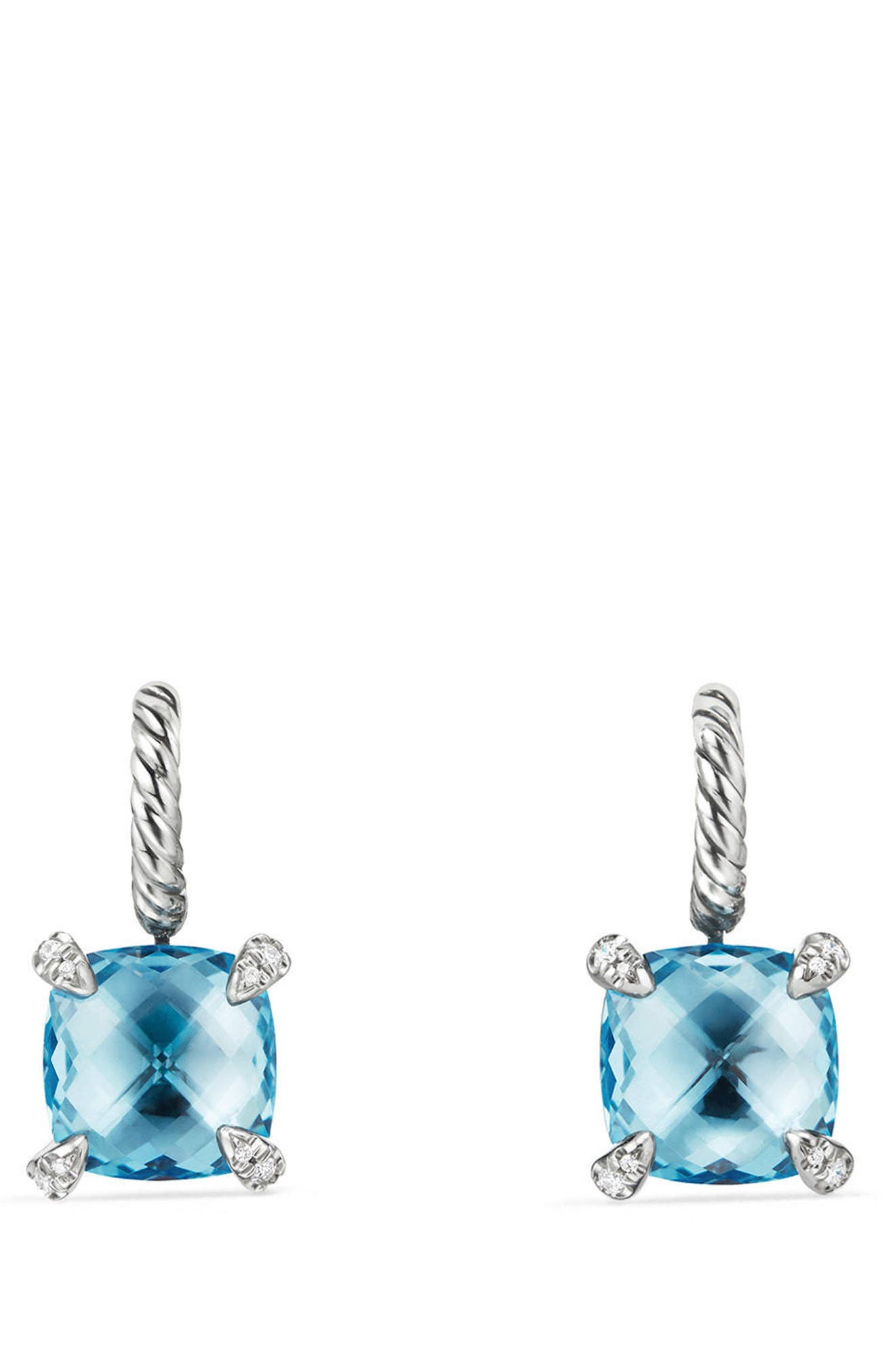 Alternate Image 1 Selected - David Yurman Châtelaine Drop Earrings with Diamonds