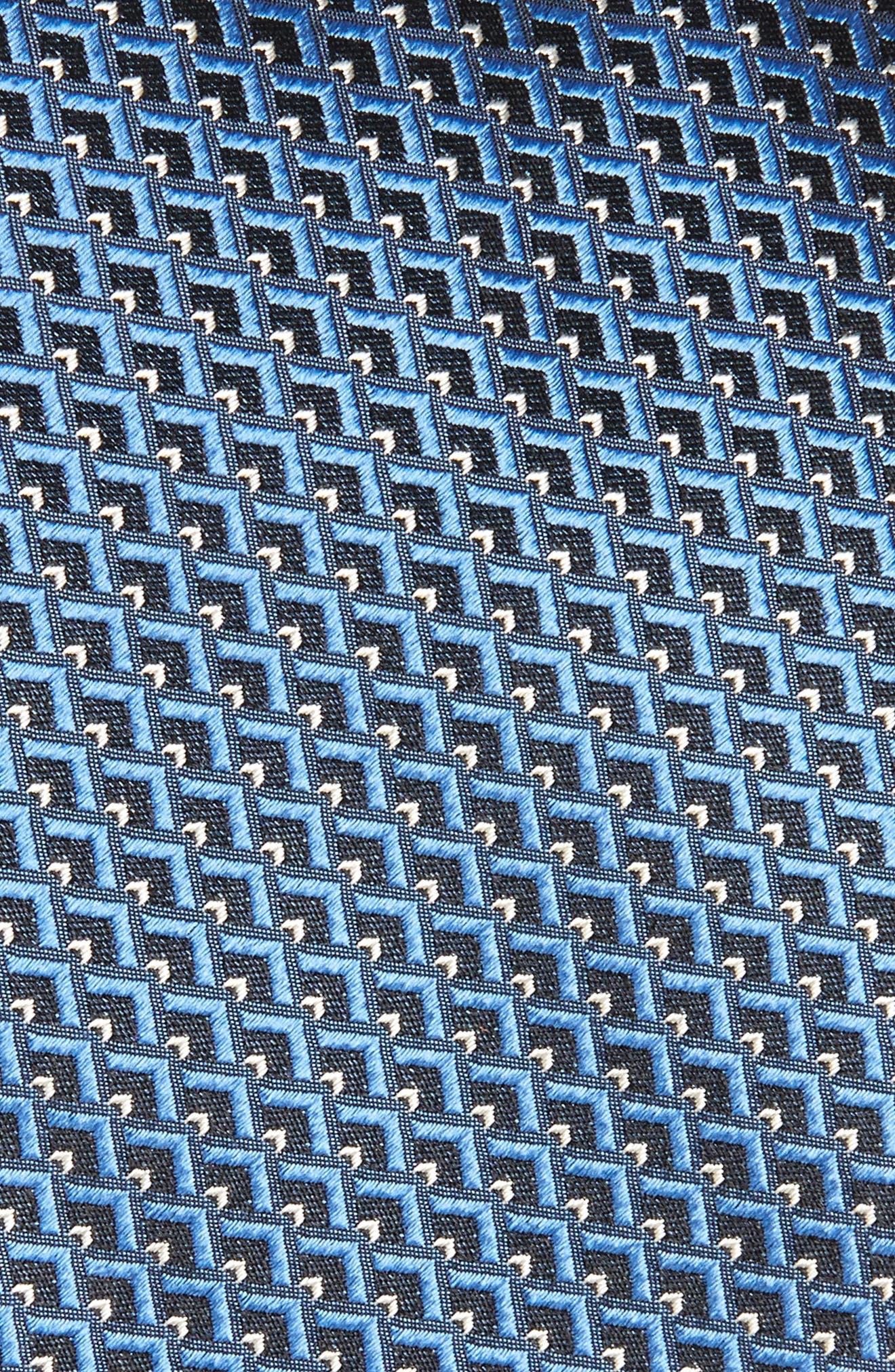 Geomeric Silk Tie,                             Alternate thumbnail 2, color,                             Navy