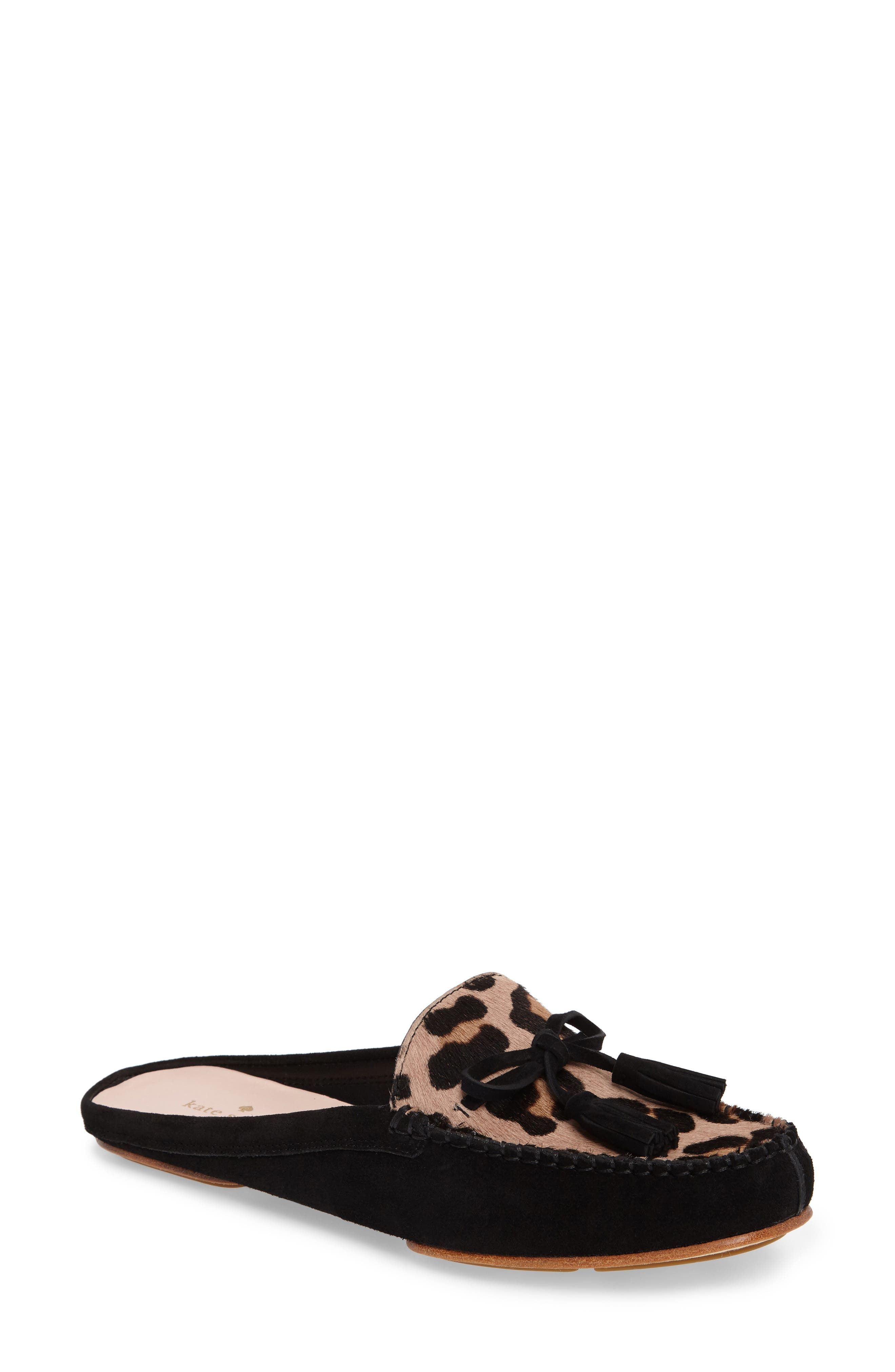 matilda loafer mule,                         Main,                         color, Blush/ Fawn Leopard Black