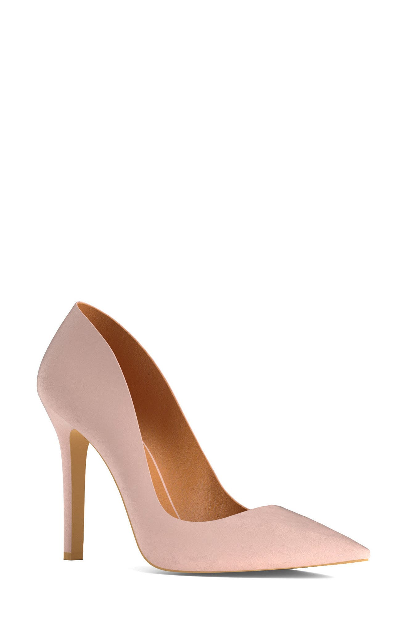Pointy Toe Pump,                             Main thumbnail 1, color,                             Blush Nude Leather