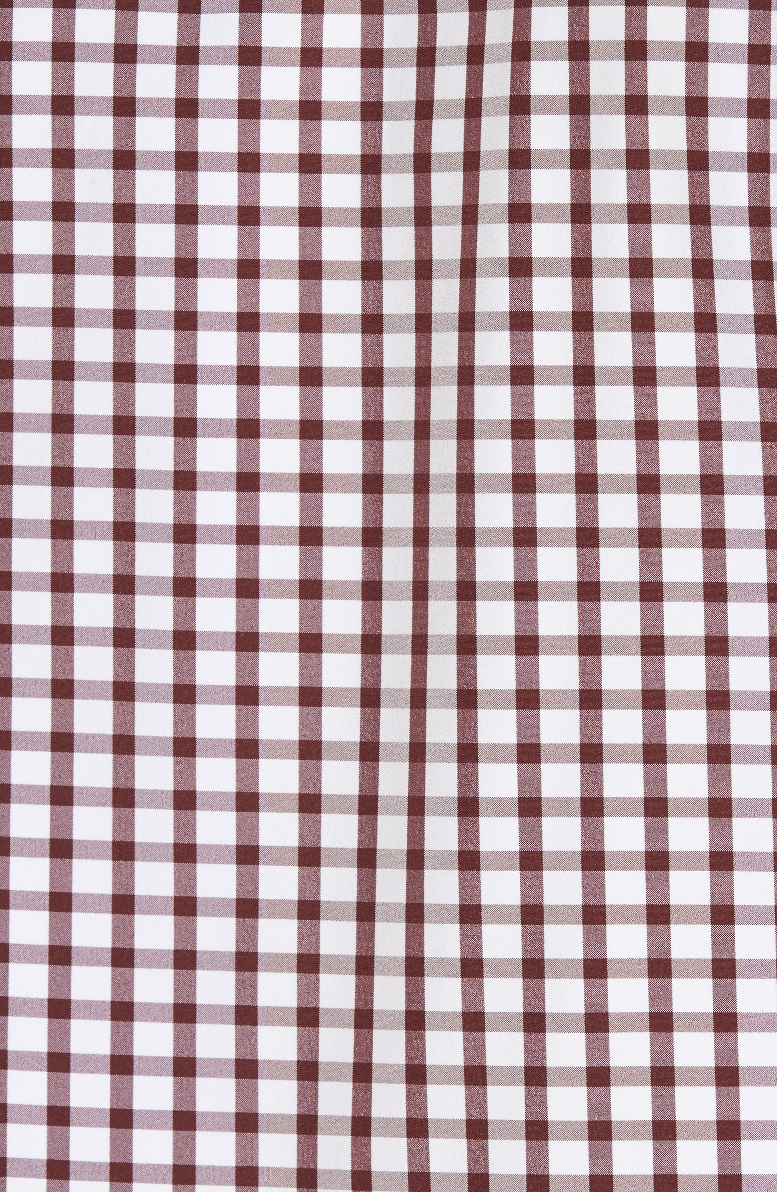 Cooper Check Performance Sport Shirt,                             Alternate thumbnail 5, color,                             Red