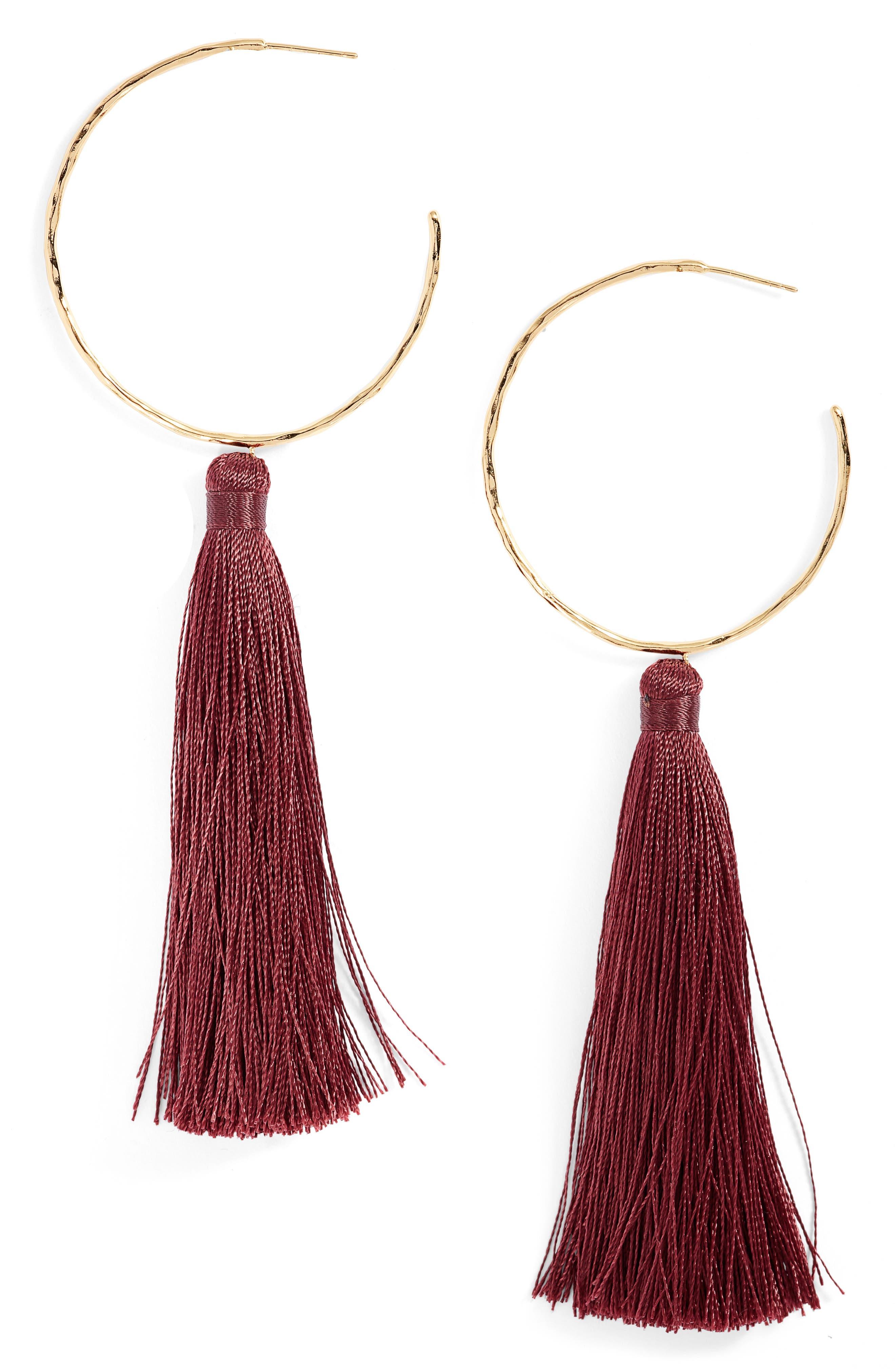 gorjana Leucadia Tassel Hoop Earrings