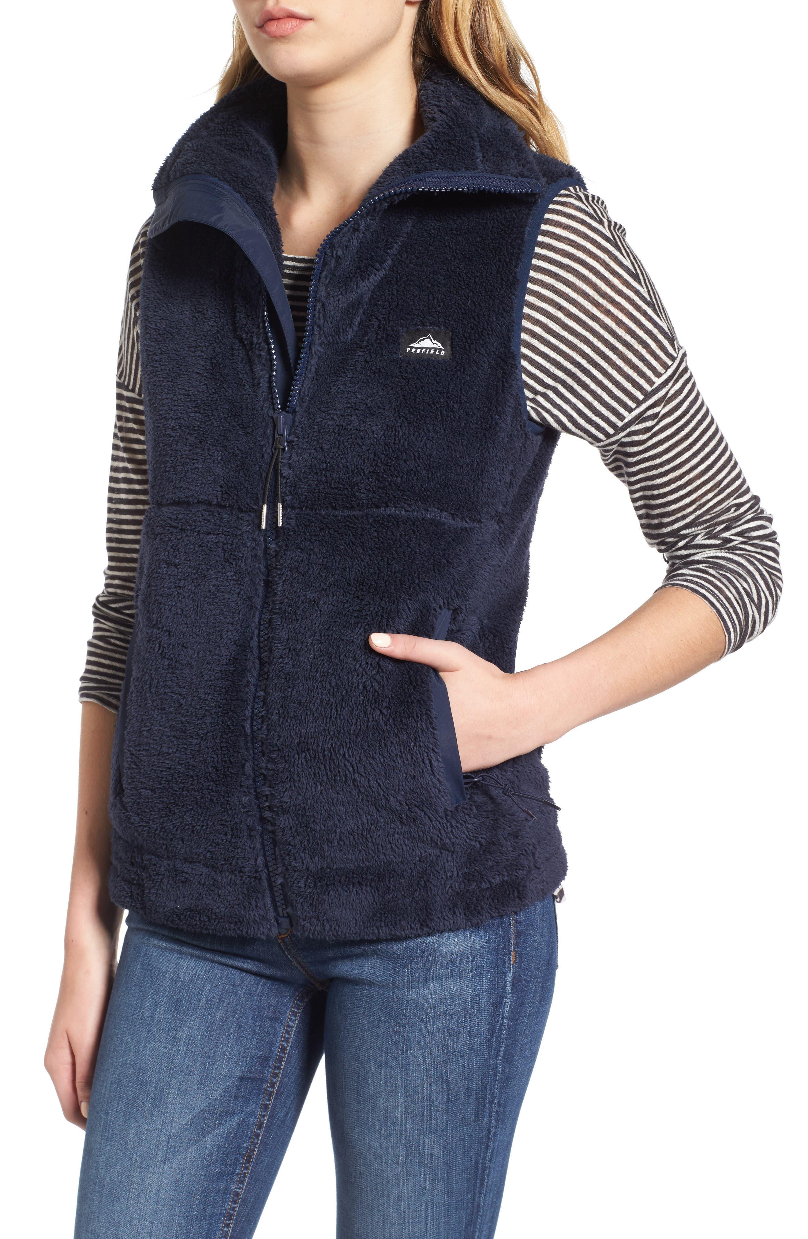 Fleece Vest,                             Alternate thumbnail 4, color,                             Navy