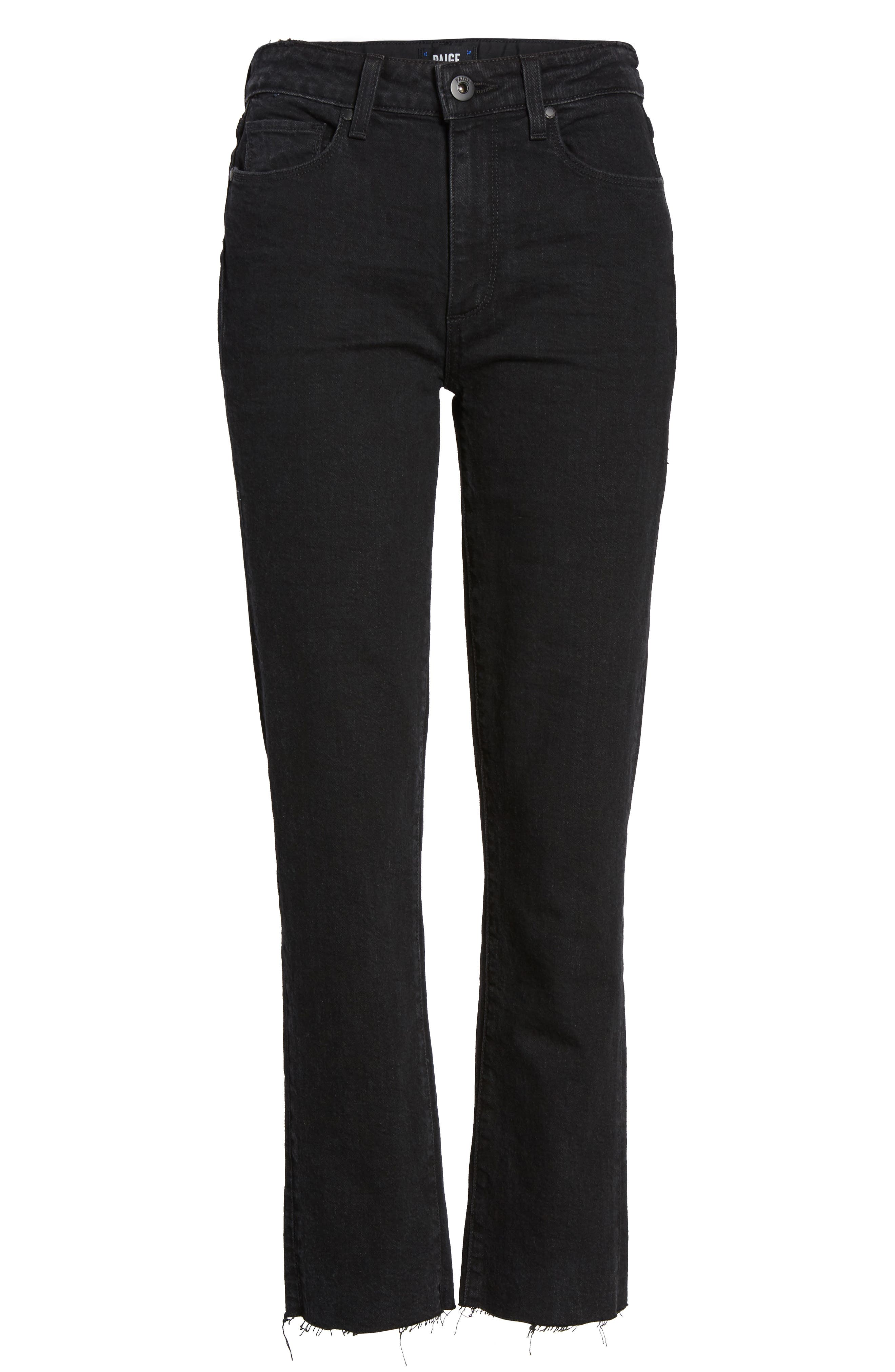Alternate Image 6  - PAIGE Jacqueline High Waist Crop Straight Leg Jeans (Riot)