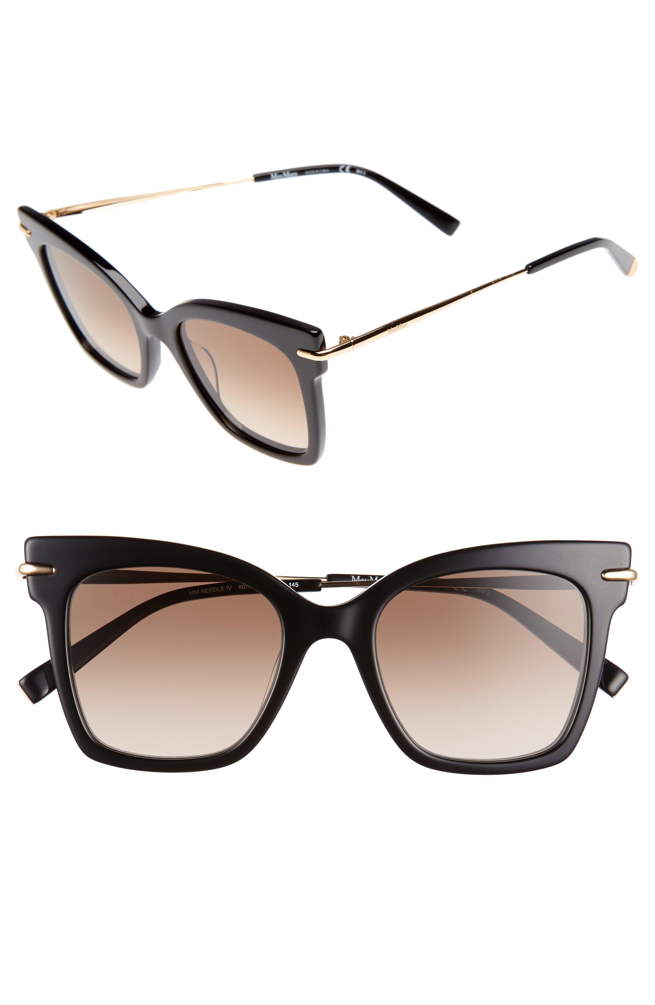 Main Image - Max Mara Needliv 49mm Gradient Cat Eye Sunglasses