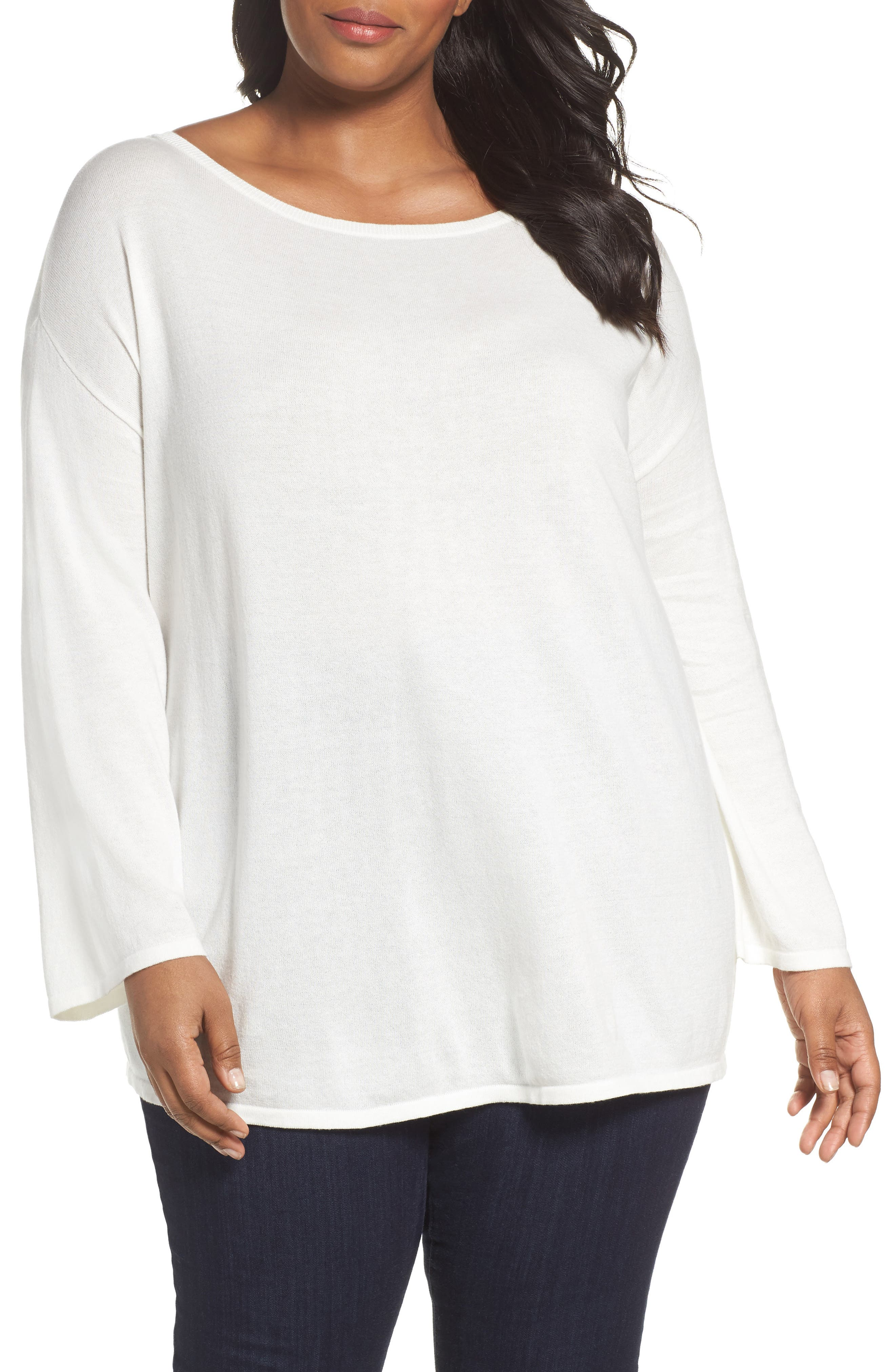 Sejour Drop Shoulder Sweatshirt (Plus Size)