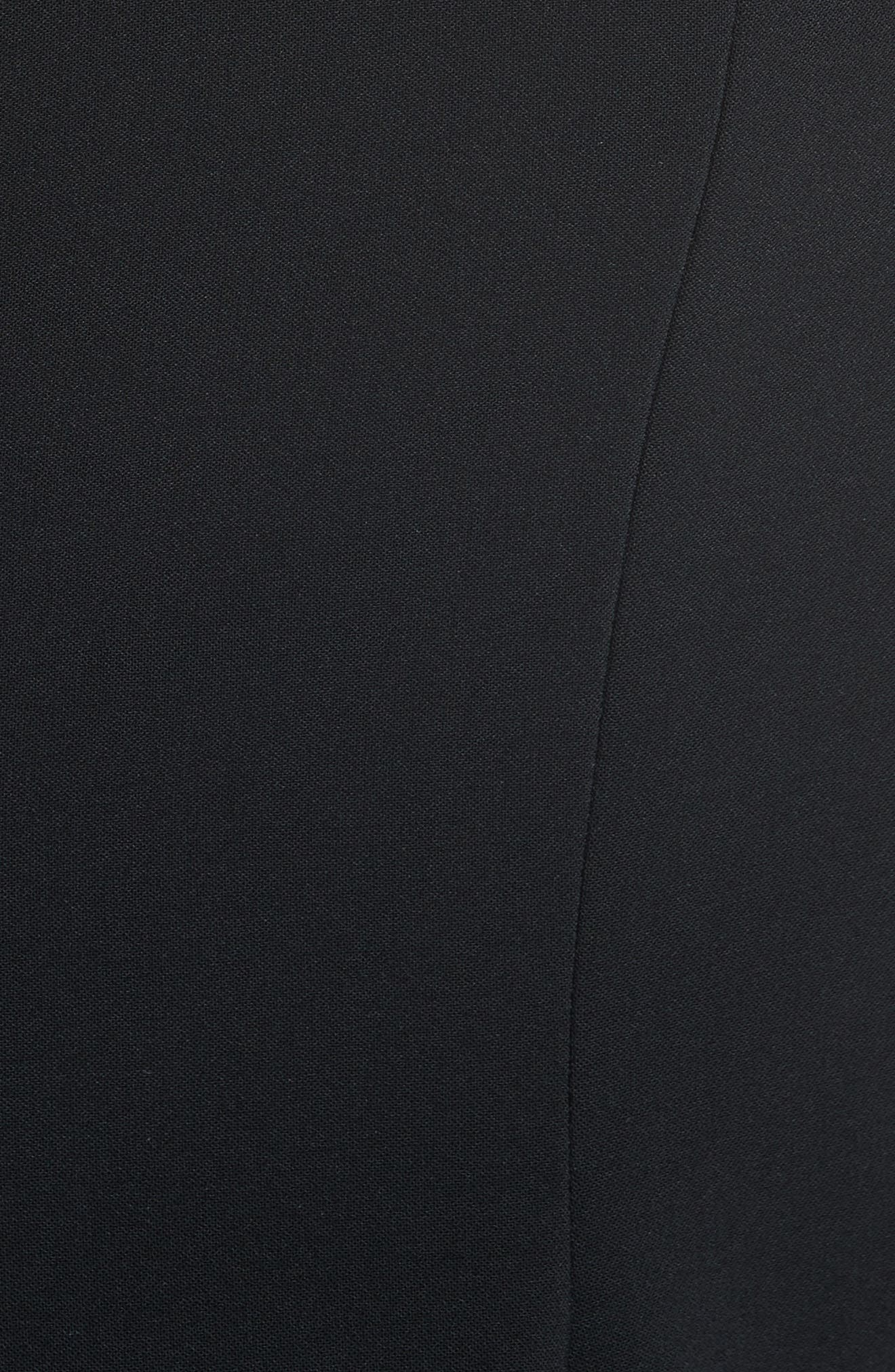 Embellished Fit & Flare Dress,                             Alternate thumbnail 3, color,                             Black