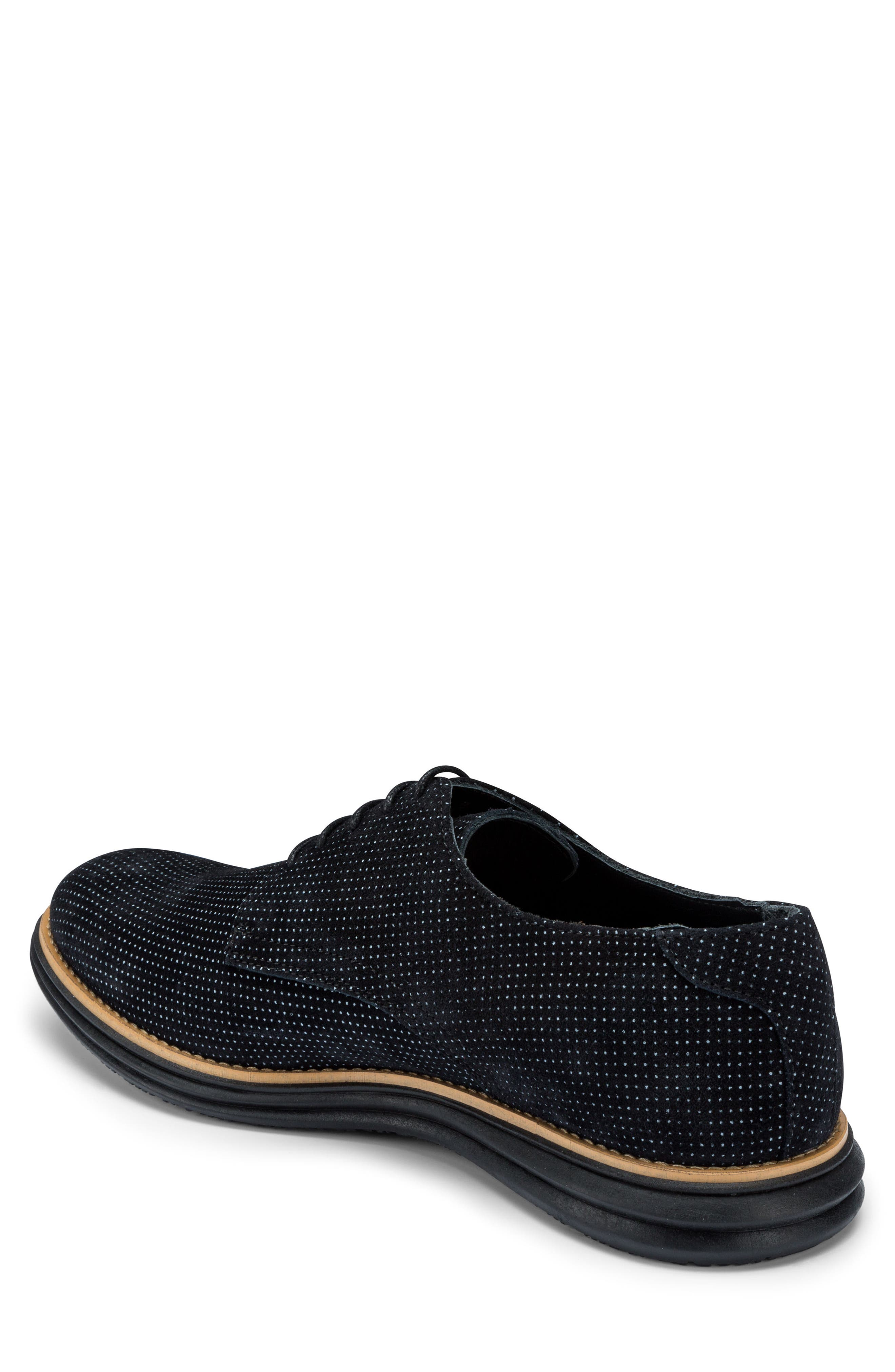 Manarola Dot Pattern Derby,                             Alternate thumbnail 2, color,                             Nero Suede