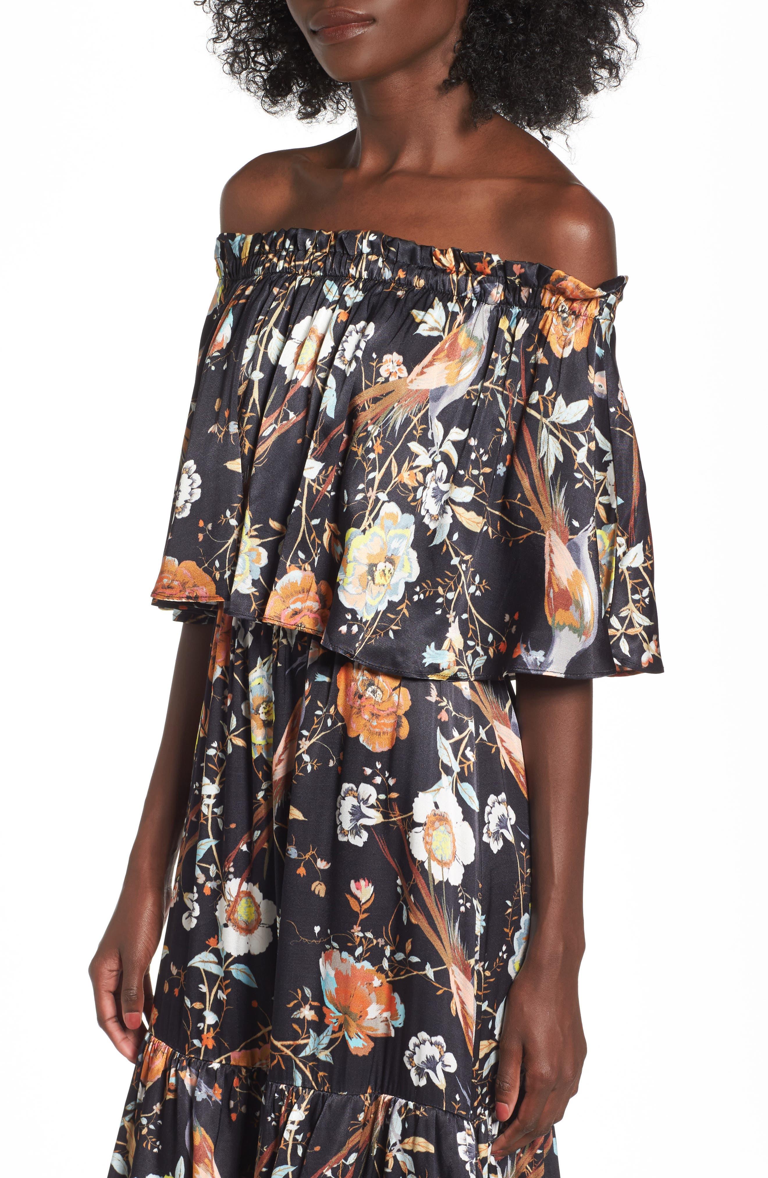Alternate Image 4  - AFRM Cleo Off the Shoulder Maxi Dress