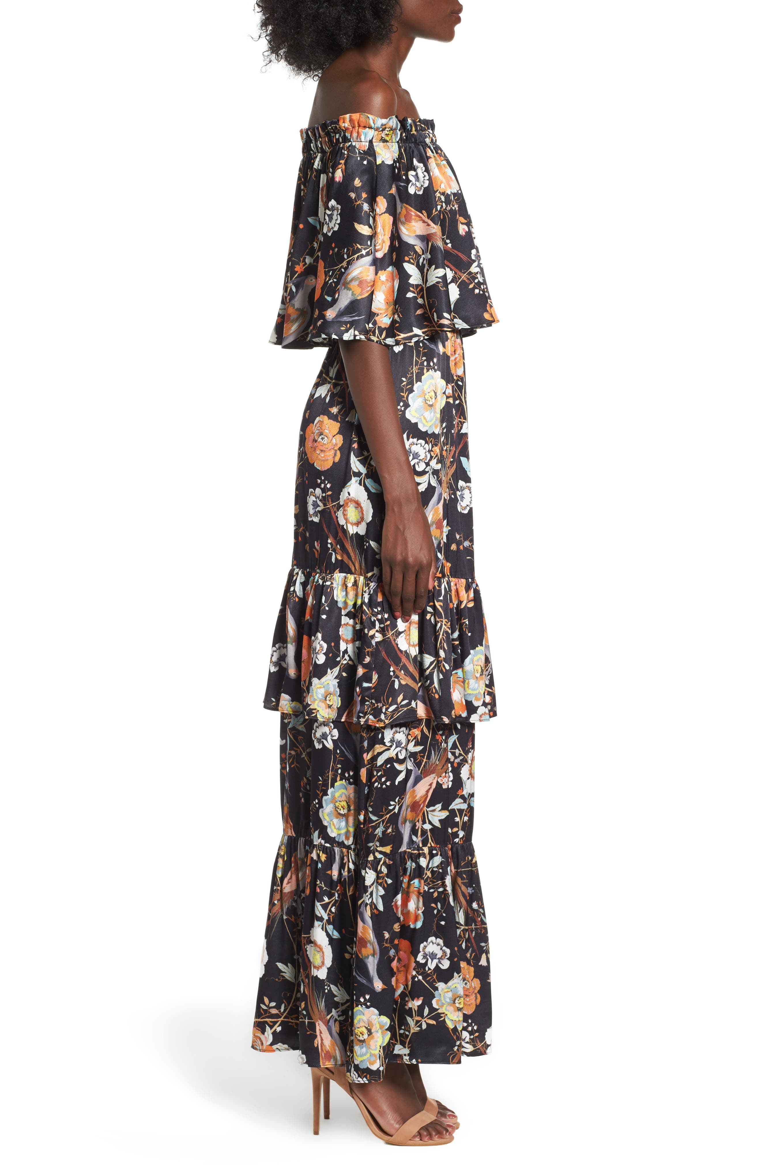 Alternate Image 3  - AFRM Cleo Off the Shoulder Maxi Dress