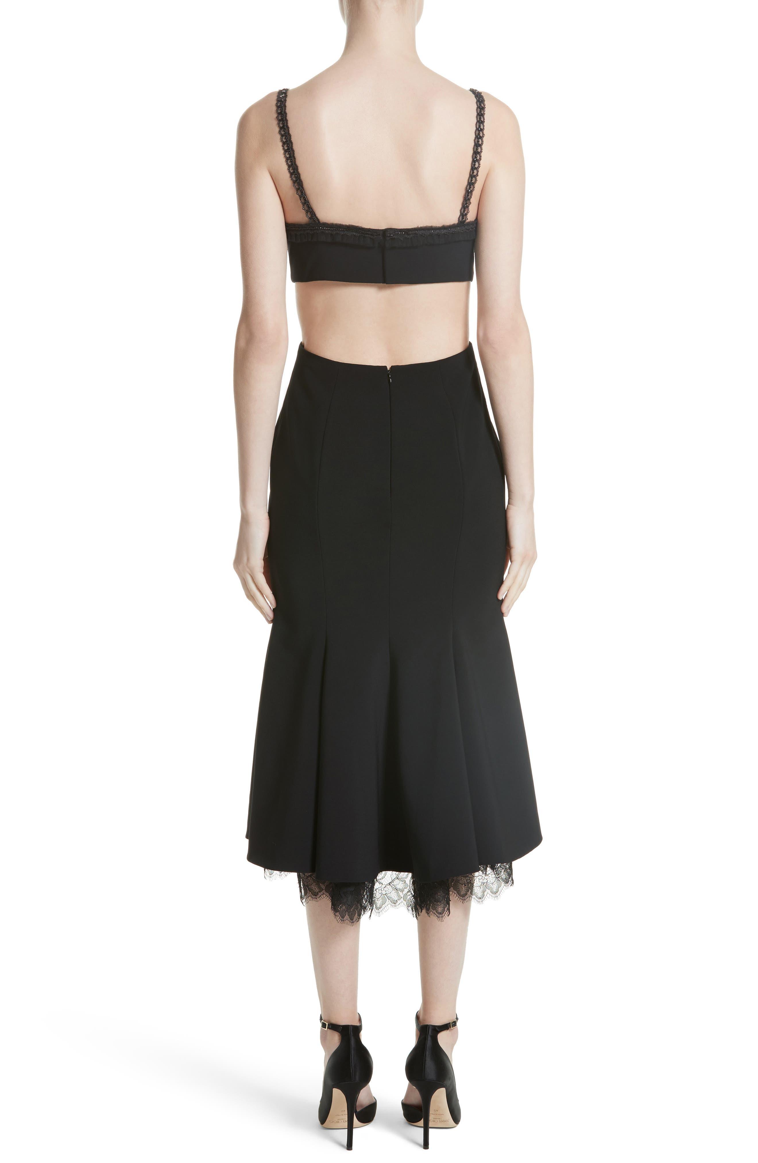 Embellished Fit & Flare Dress,                             Alternate thumbnail 2, color,                             Black