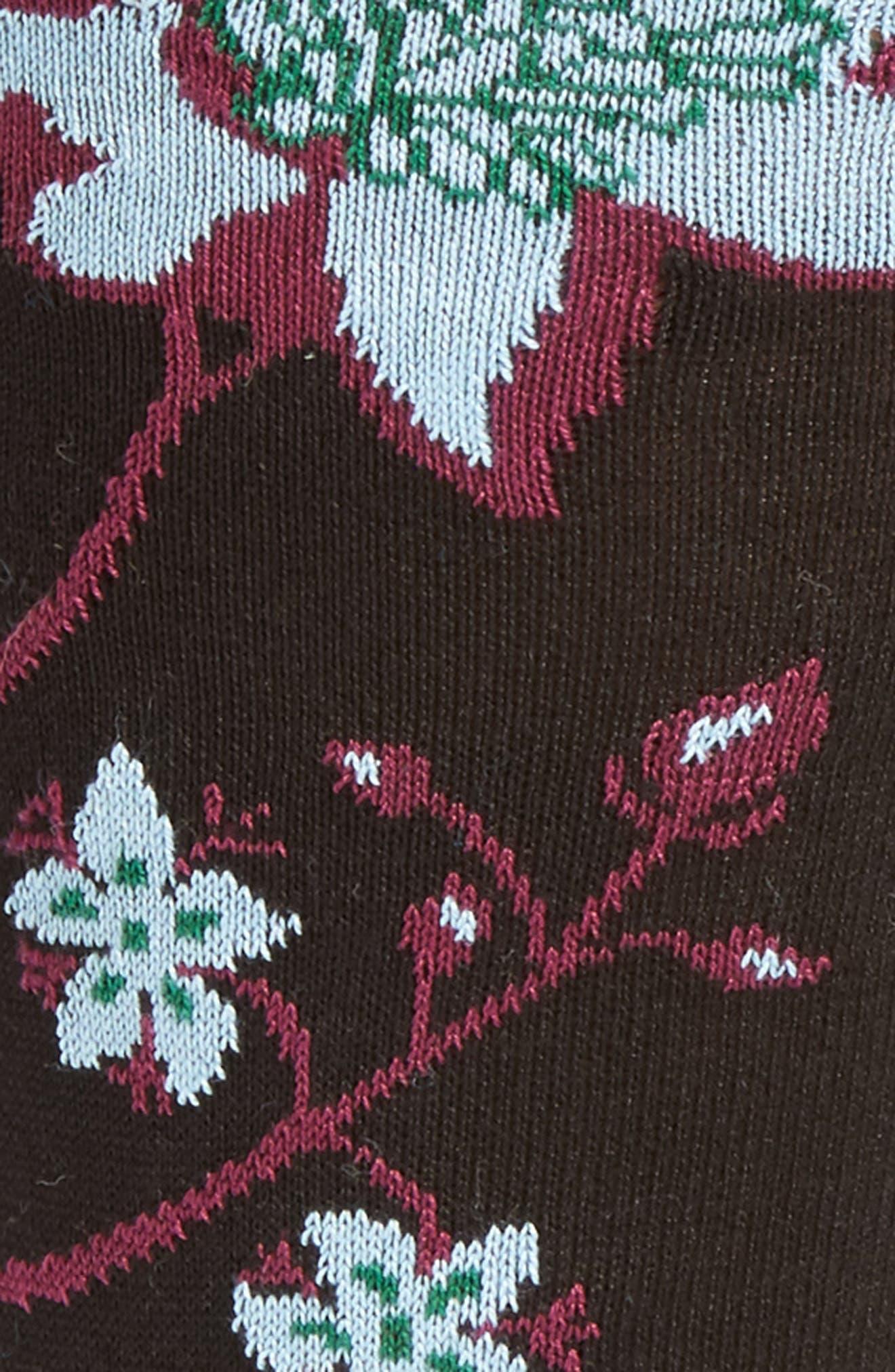 Alternate Image 2  - Bugatchi Floral Crew Socks